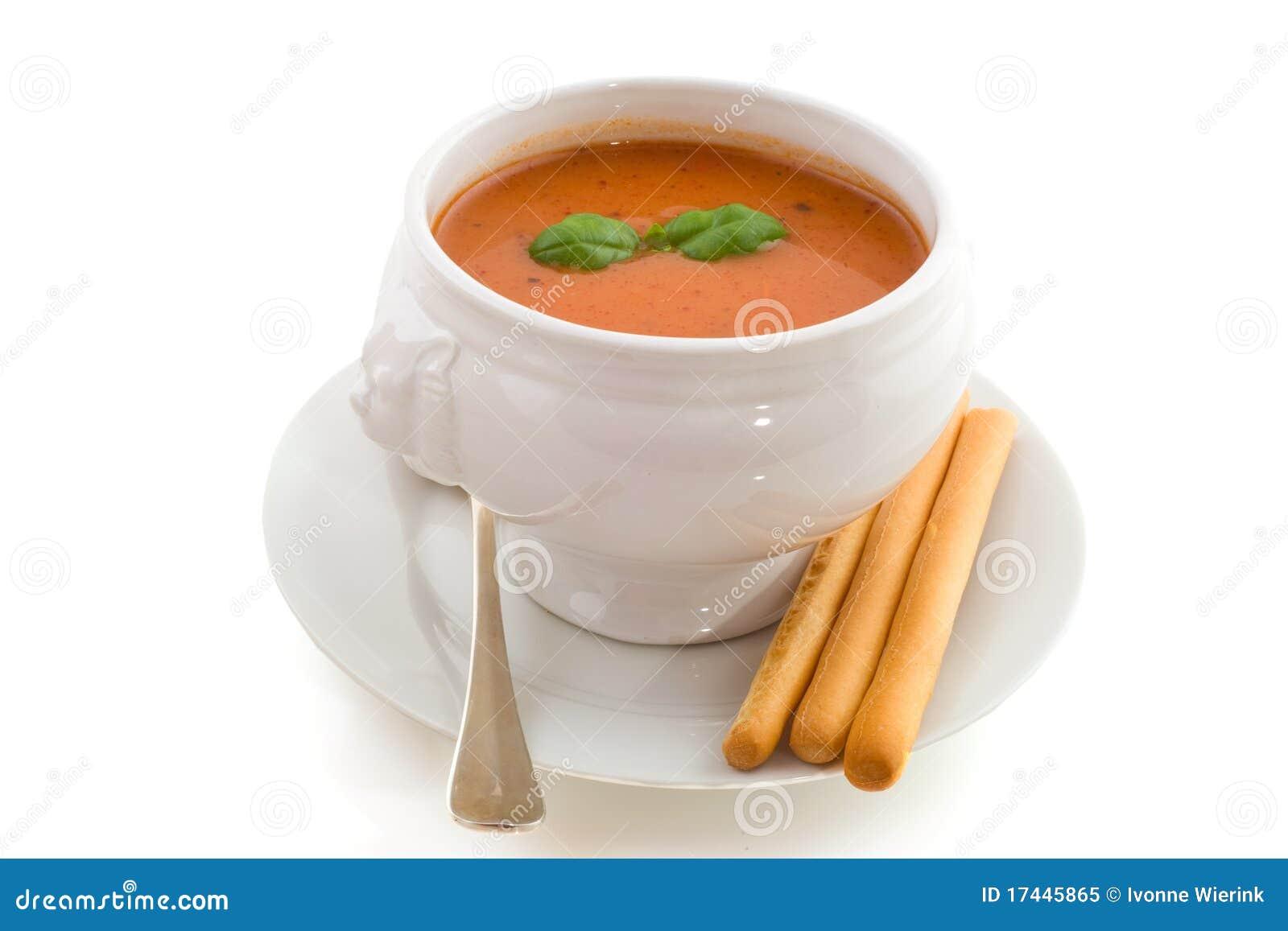 De soep van de tomaat