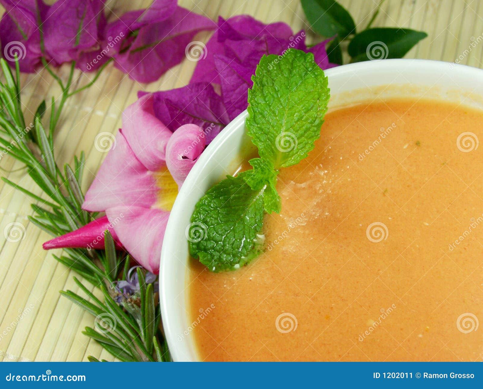 De soep van Gazpacho