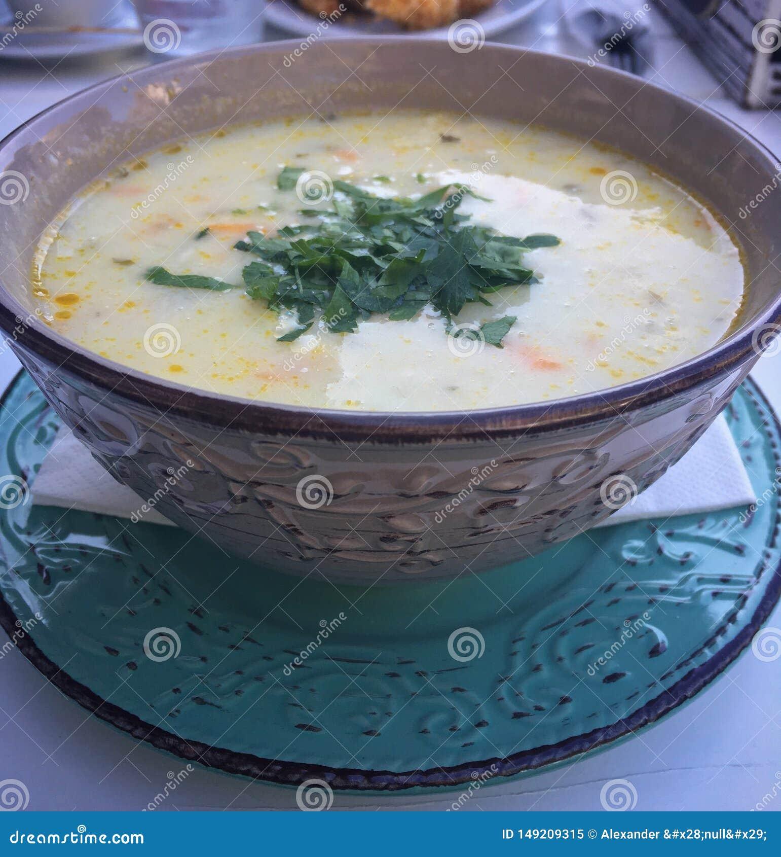 De soep van de kip