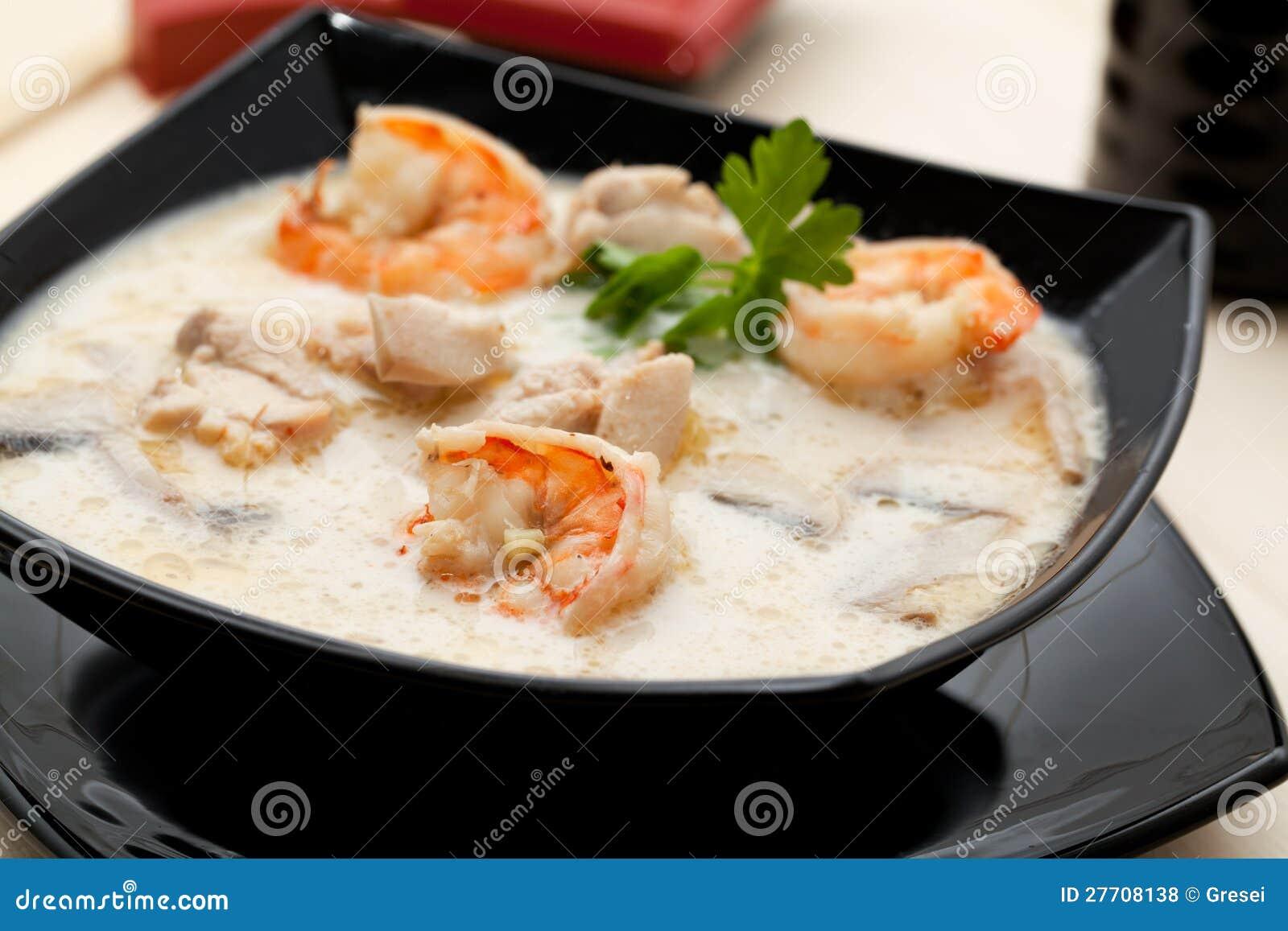 De soep van Tom yum