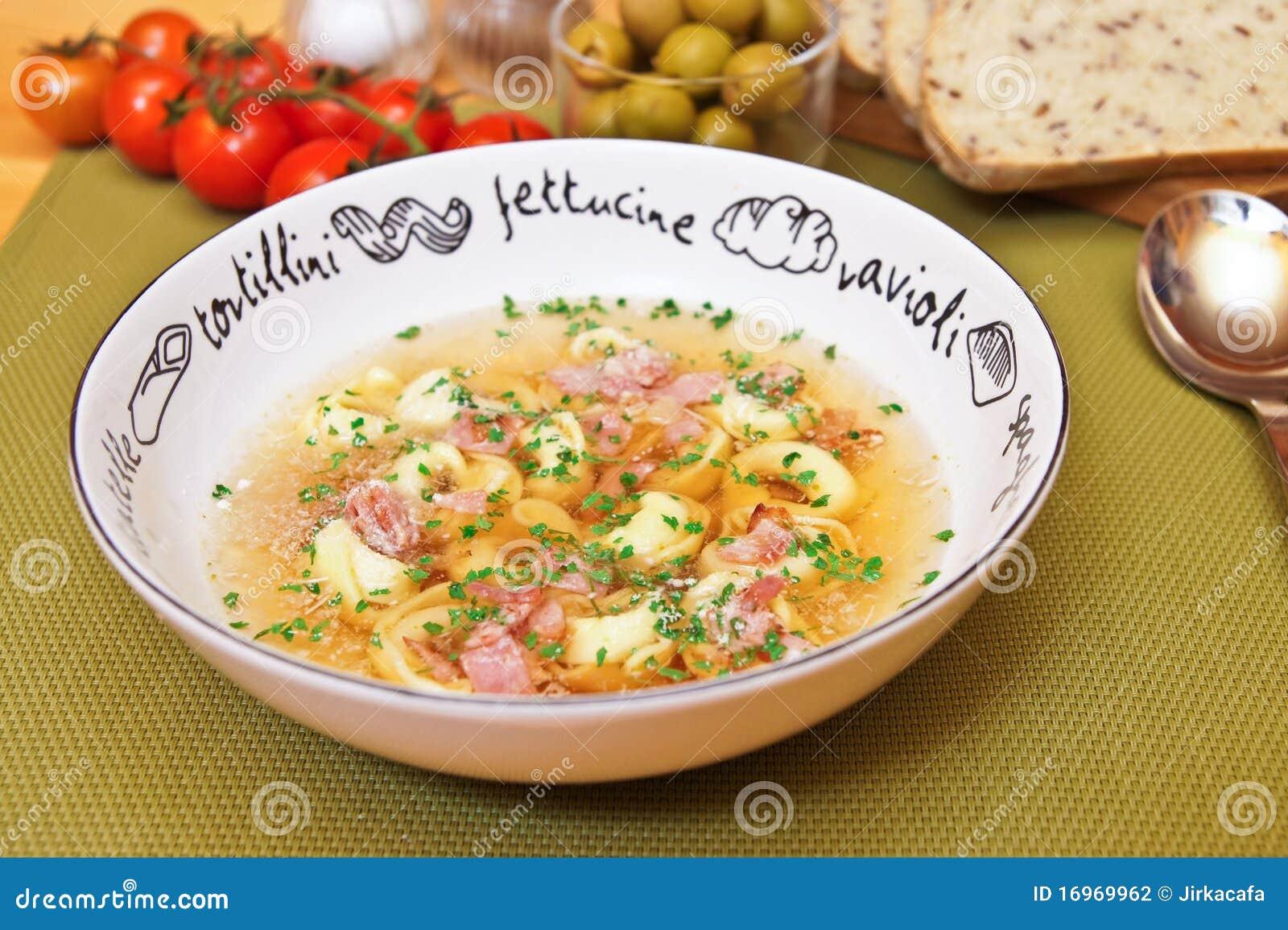 De soep van Tortellini