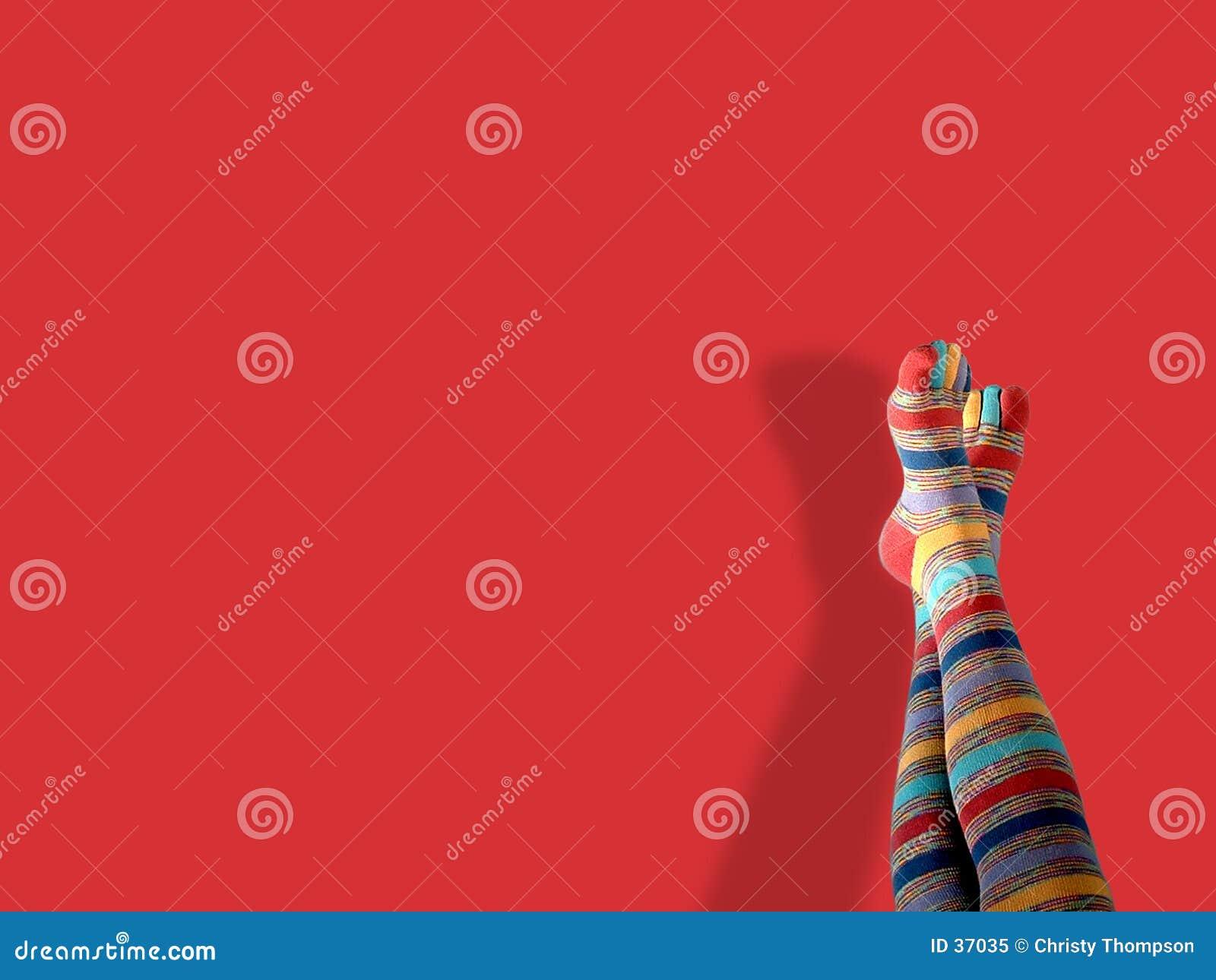 De sokken van de teen