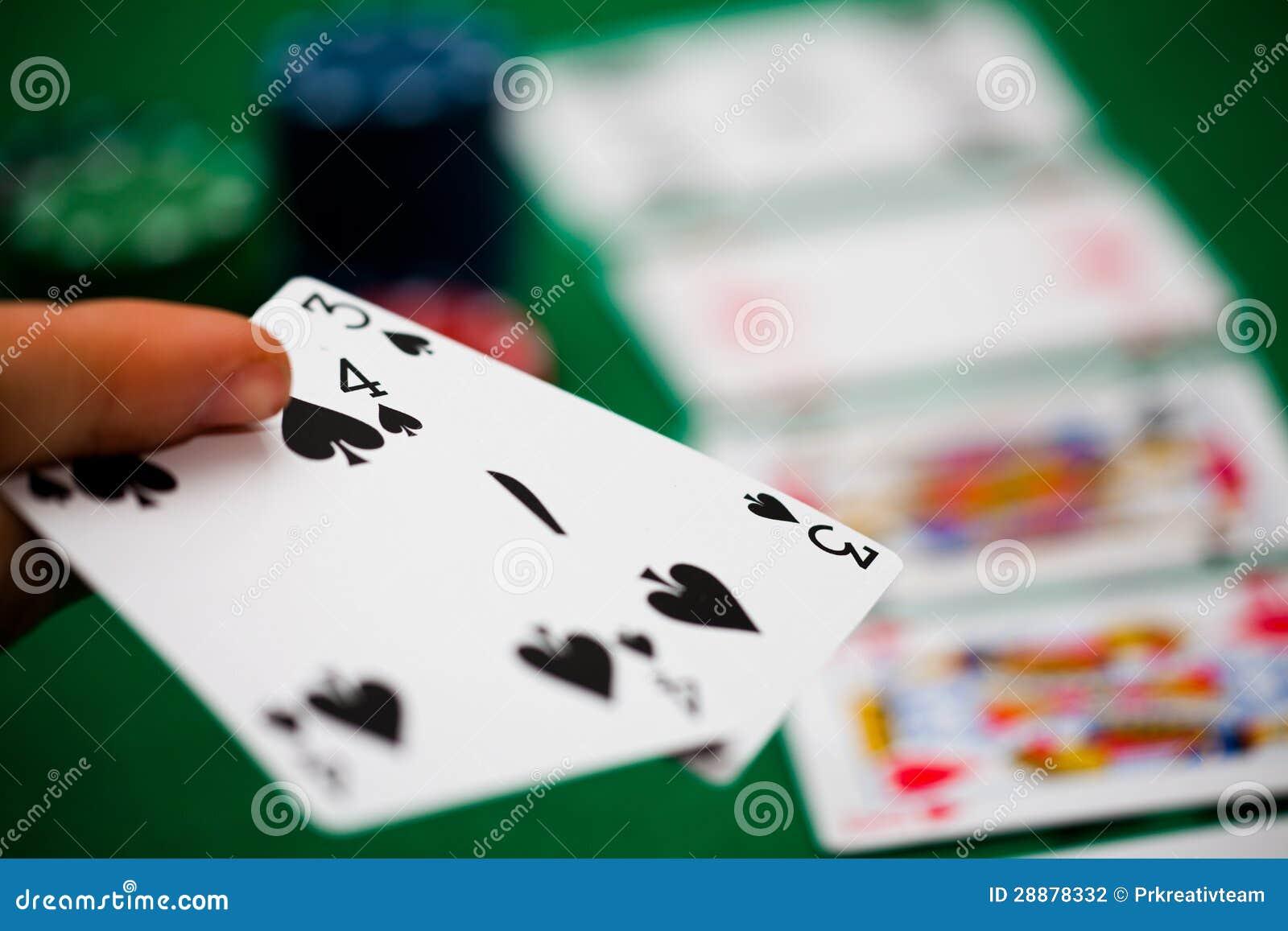 De spaanders en de kaarten van de pook