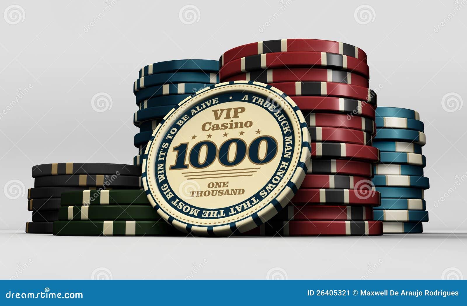 De spaanders van het casino