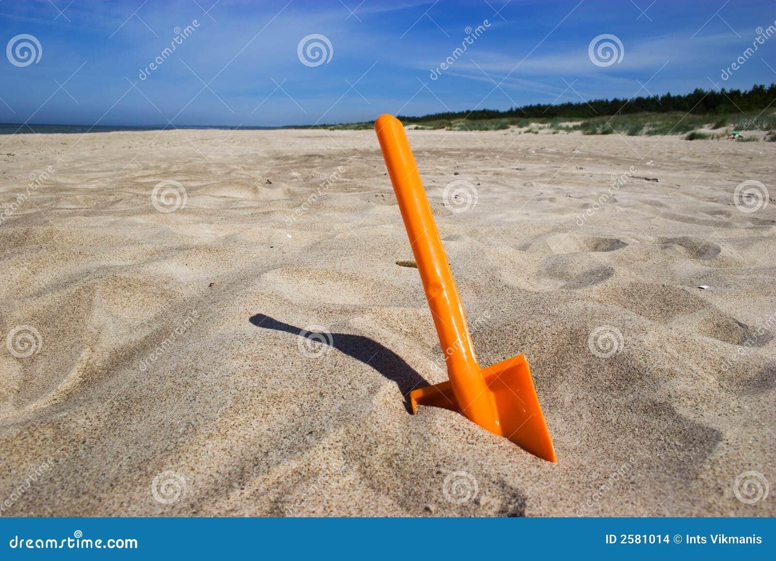 De spade van het strand