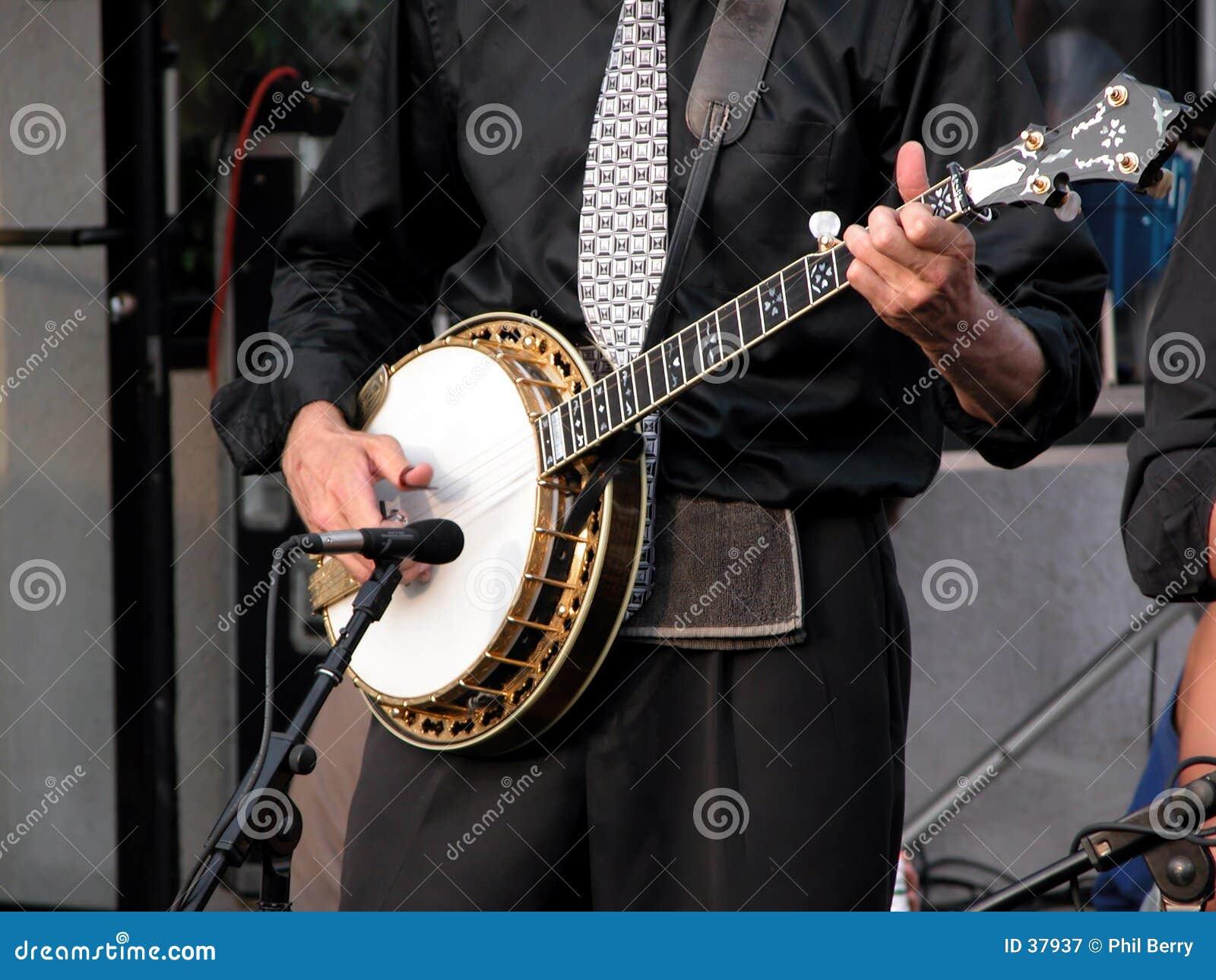 De speler van de banjo