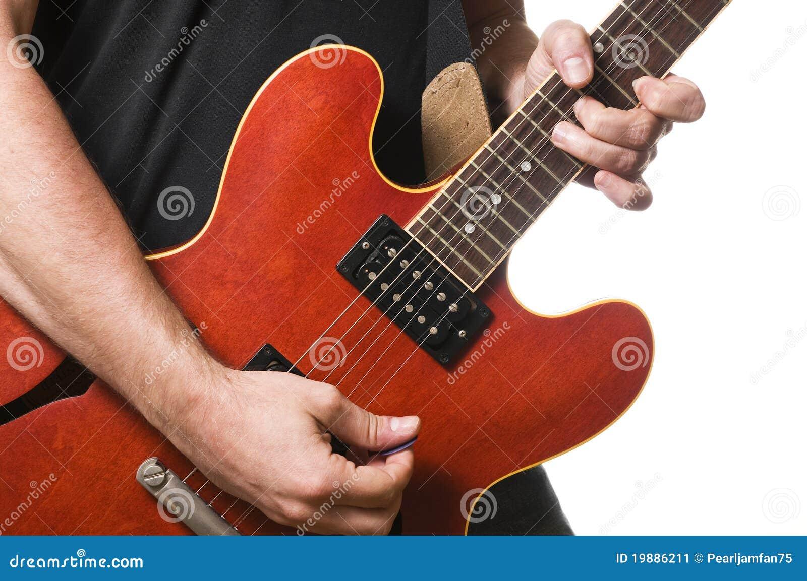De speler van de gitaar