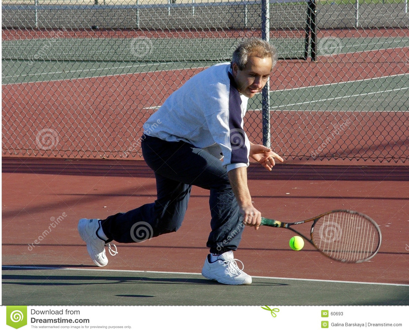 De speler van het tennis