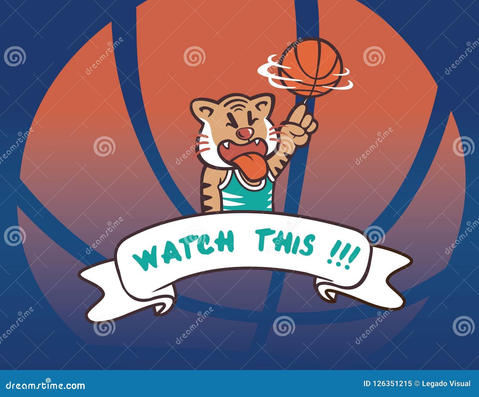 De de spelerbeweging van de basketbaltijger