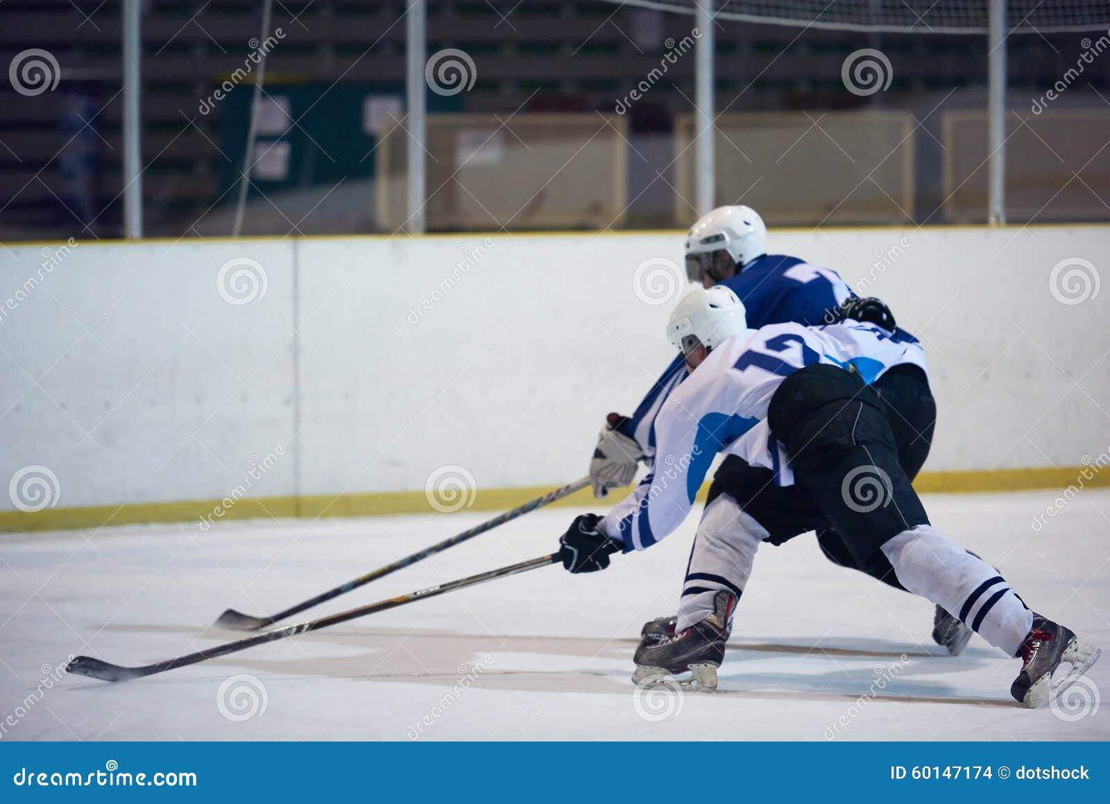 De spelers van de ijshockeysport