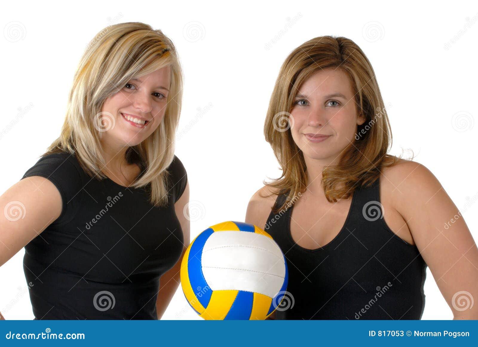 De Spelers van het volleyball