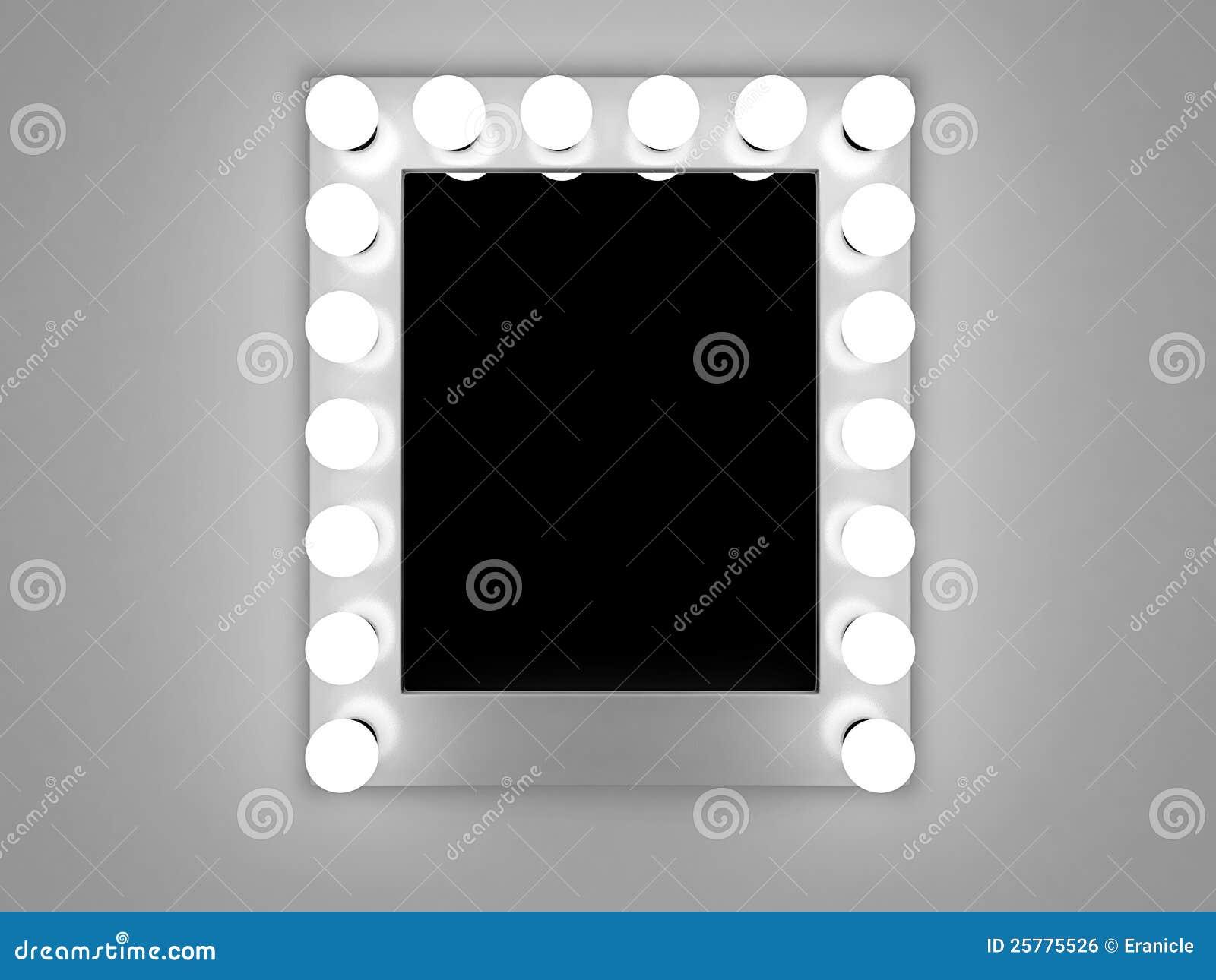 De spiegel van de make-up stock illustratie. Afbeelding bestaande uit creatief - 25775526