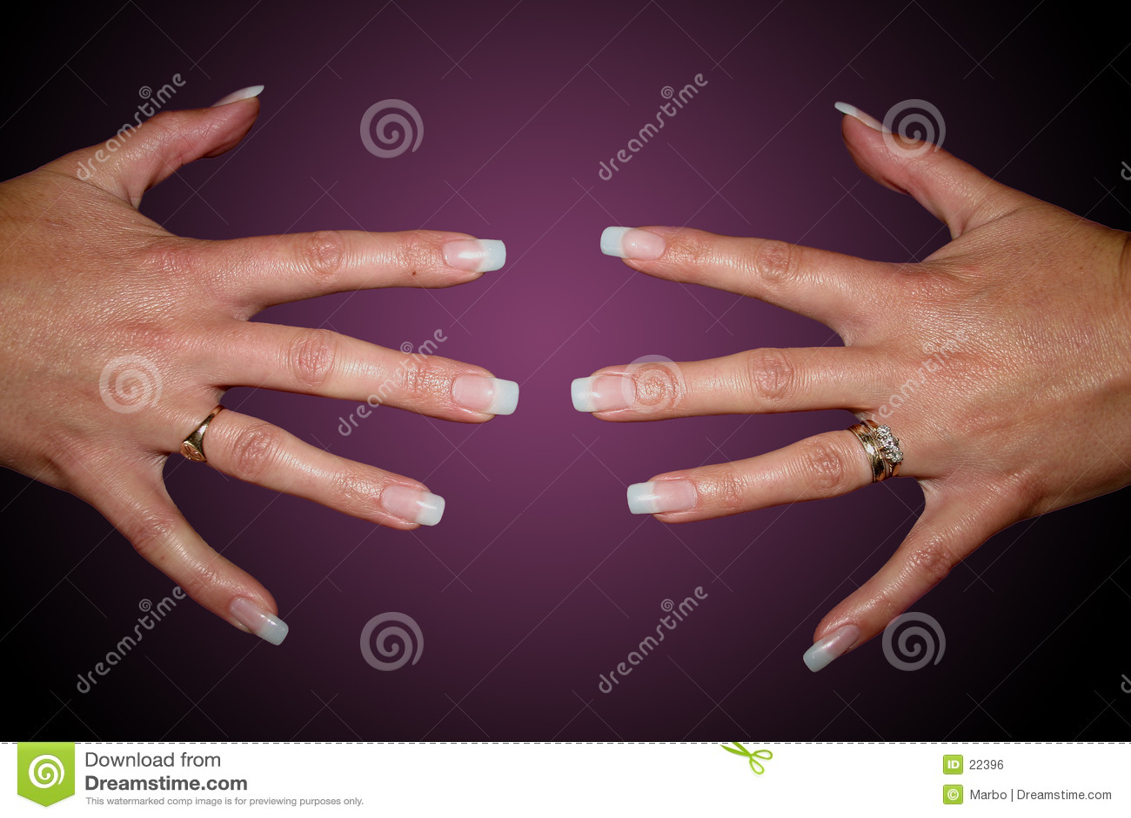 De spijkers van de vinger