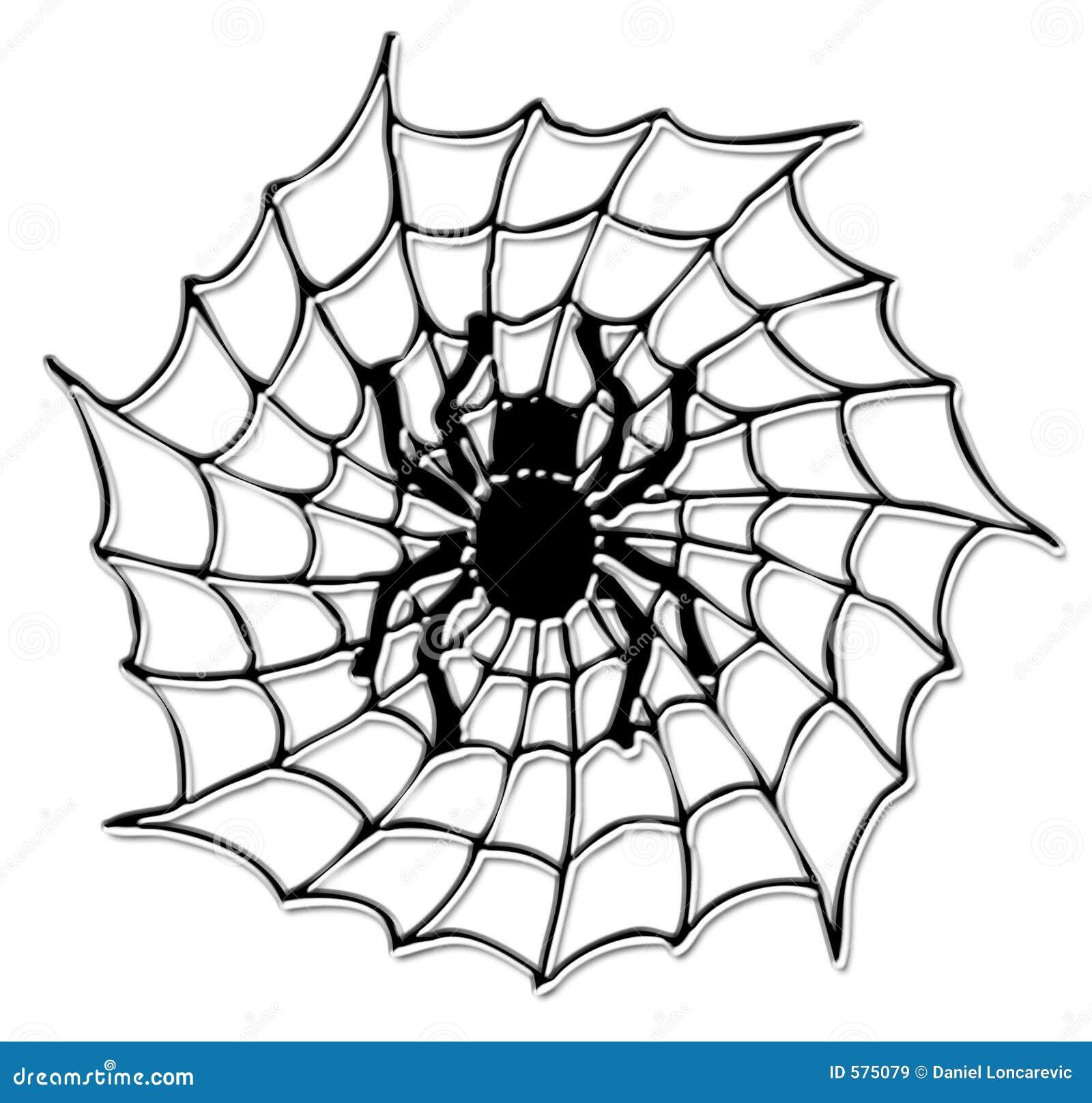 De Spin Van Halloween Op Het Net Royalty-vrije Stock ...