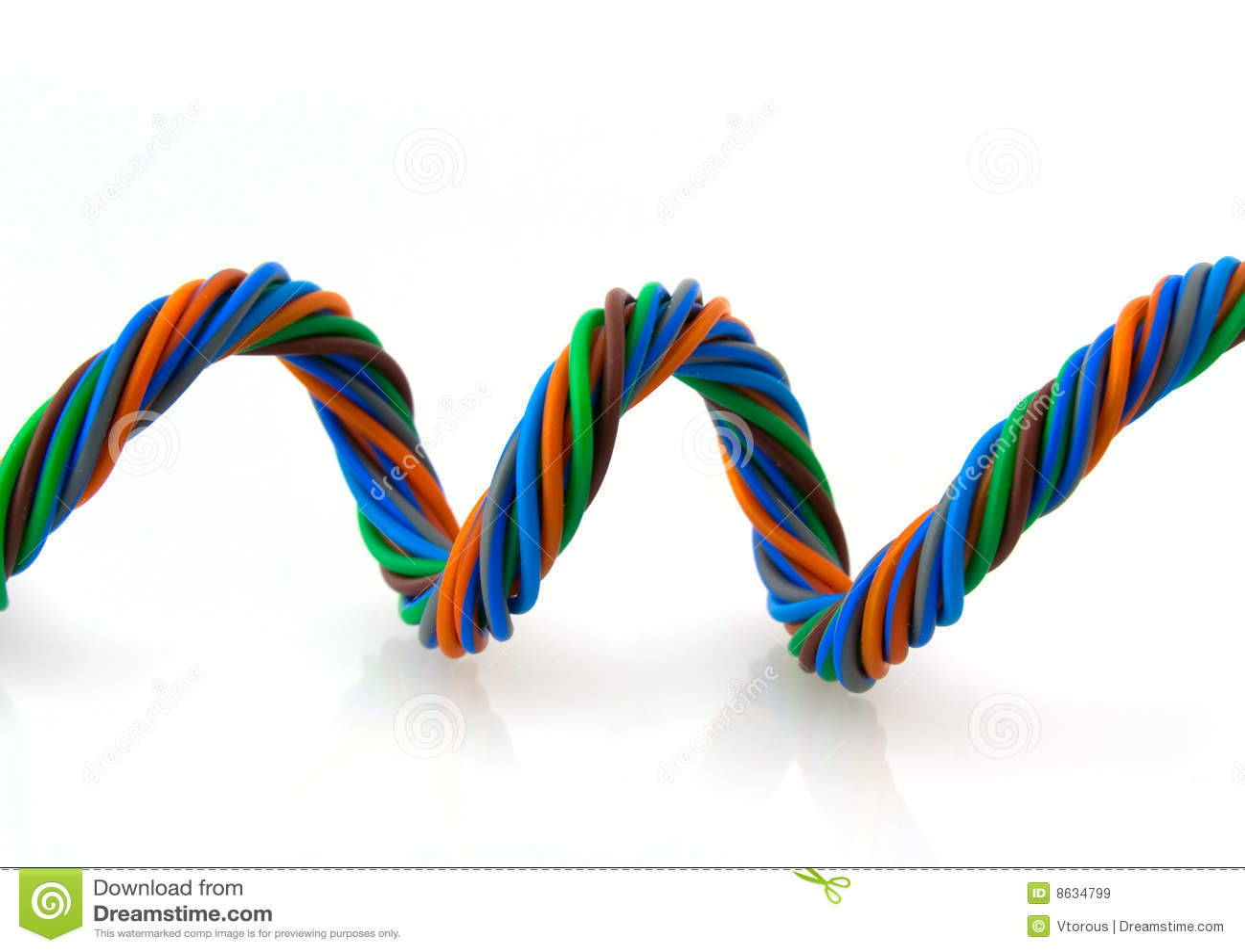 De spiraal van de draad