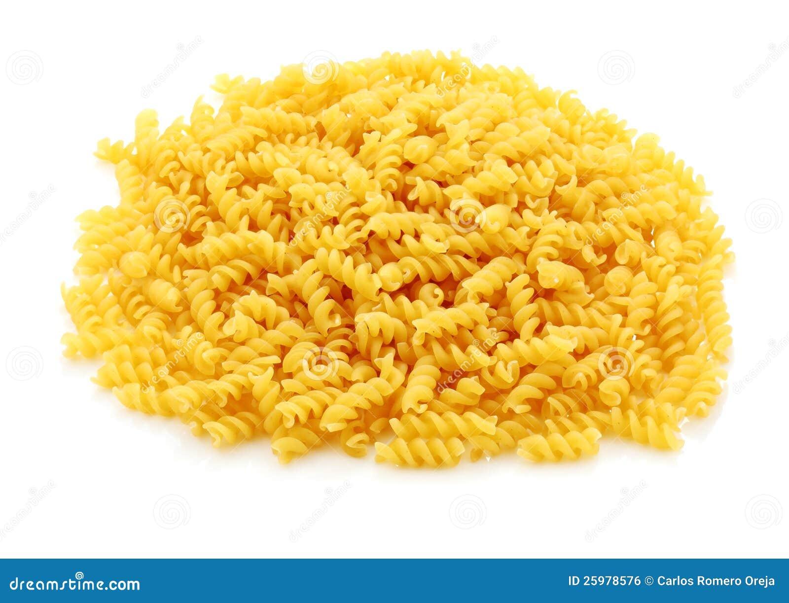 De spiralen van de macaroni