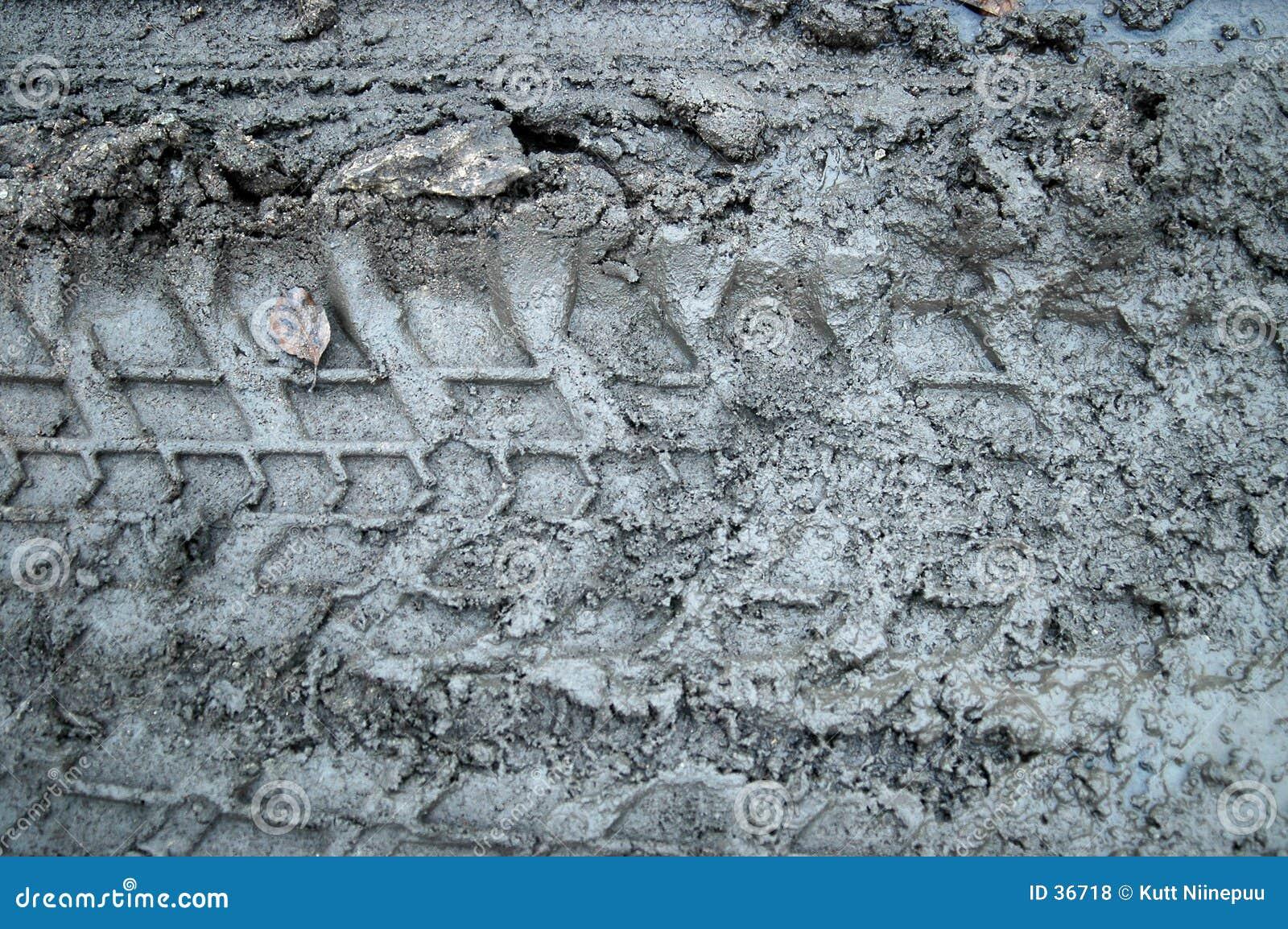 De sporen van de modder