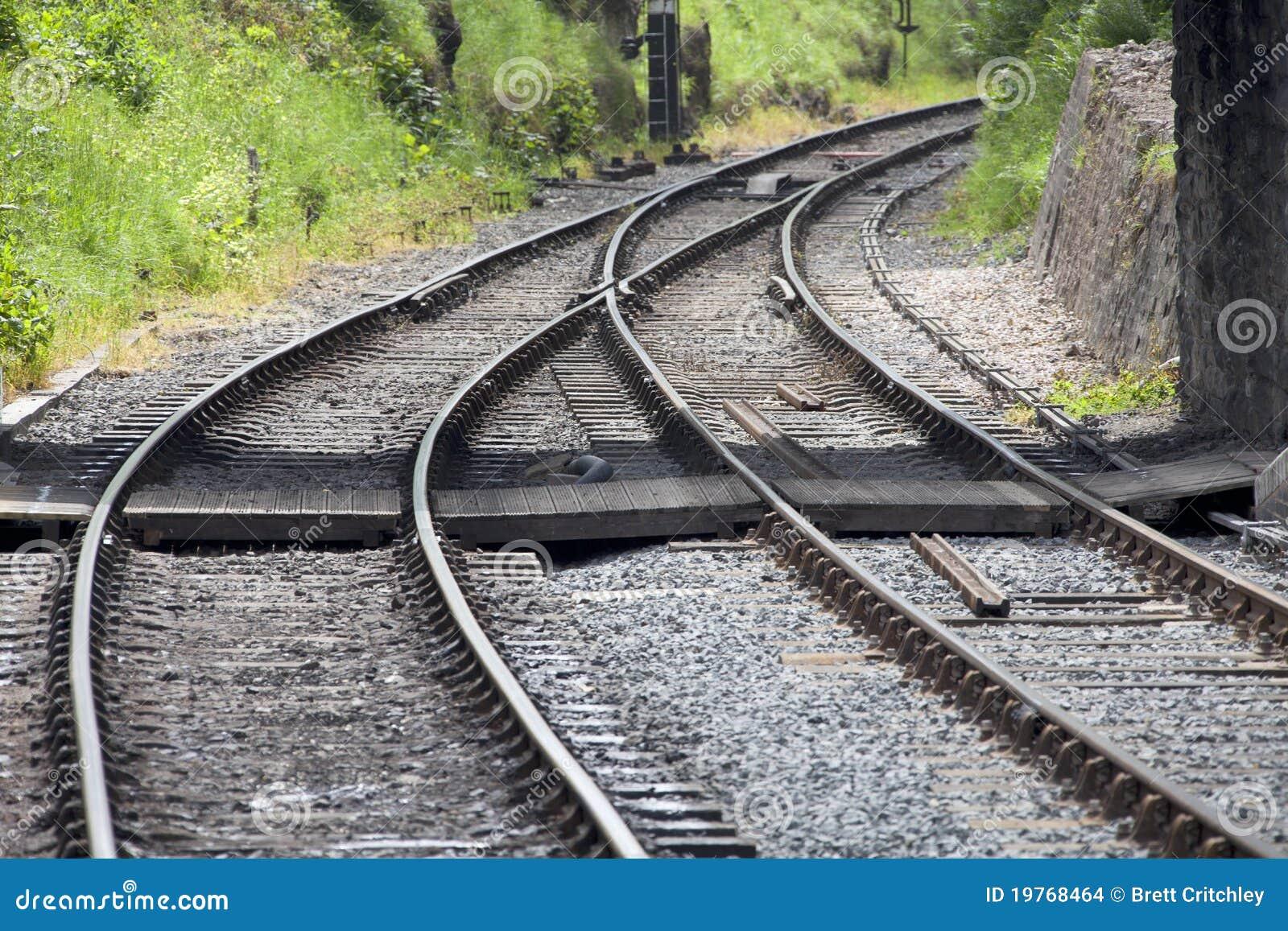 De sporen van de spoorweg