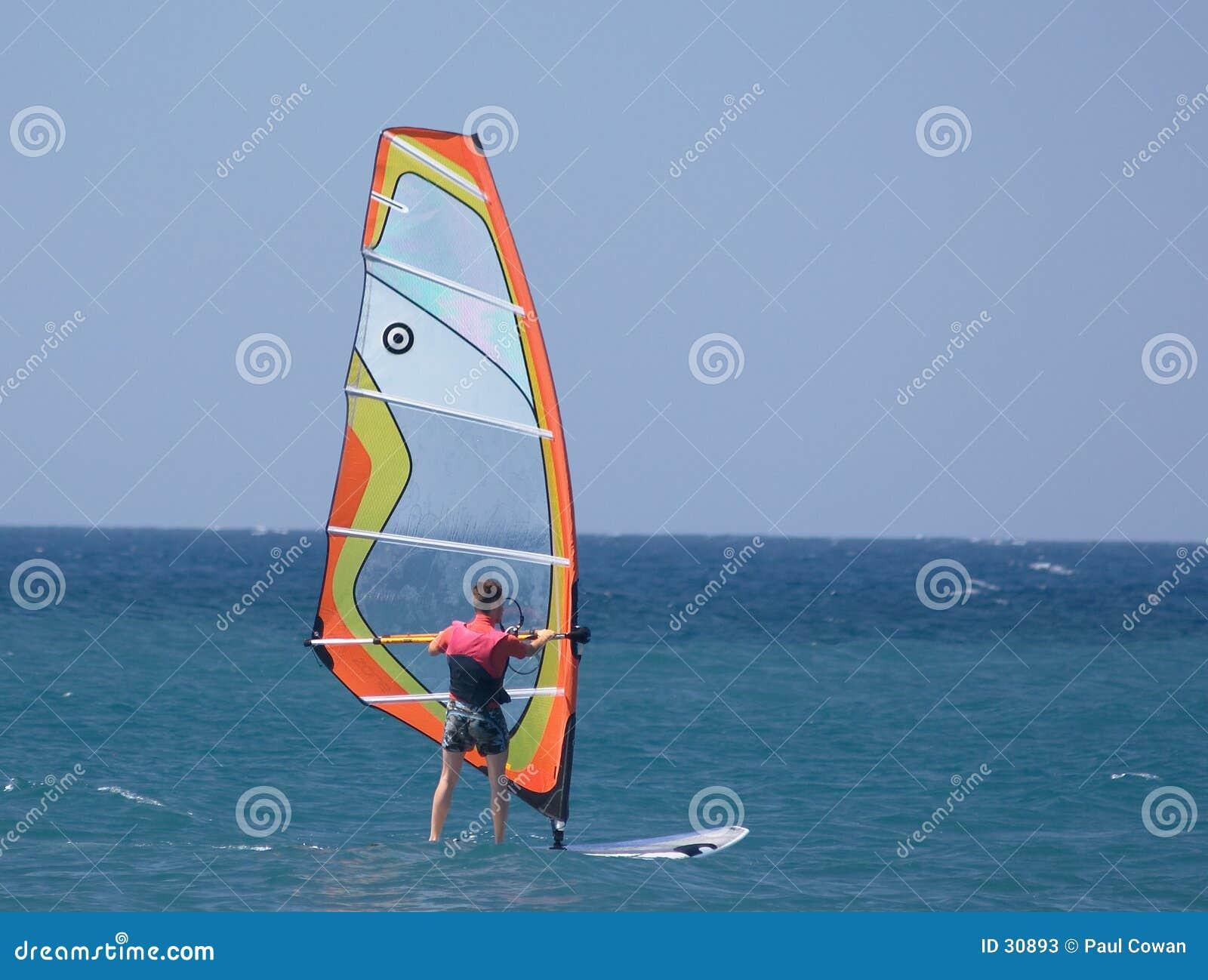 De sportman van Sailboard