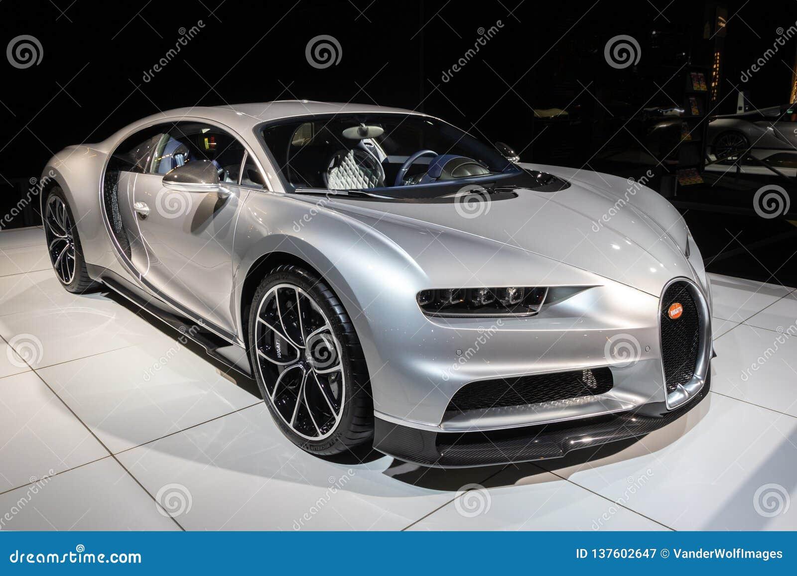 De sportwagen van Bugatti Chiron