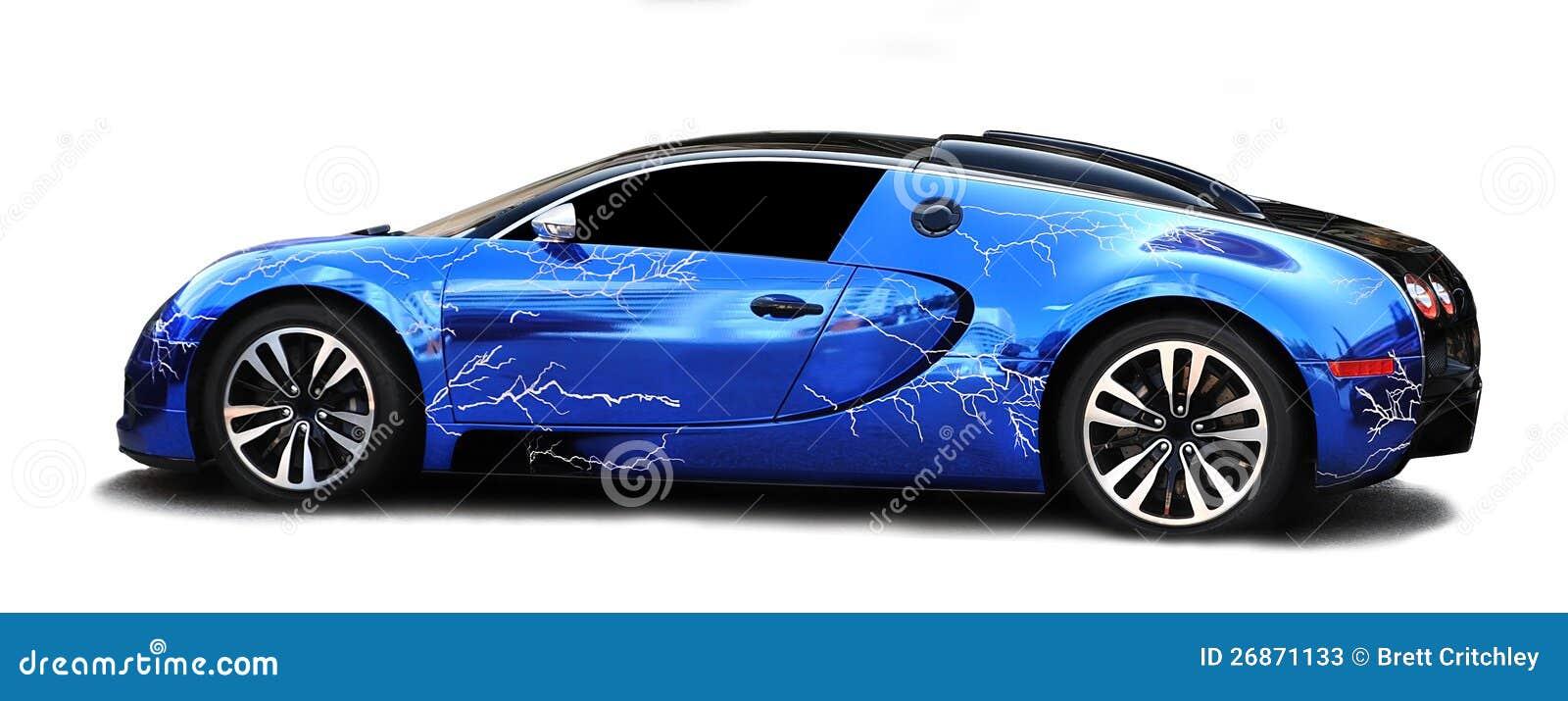 De sportwagen van Veyron van Bugatti