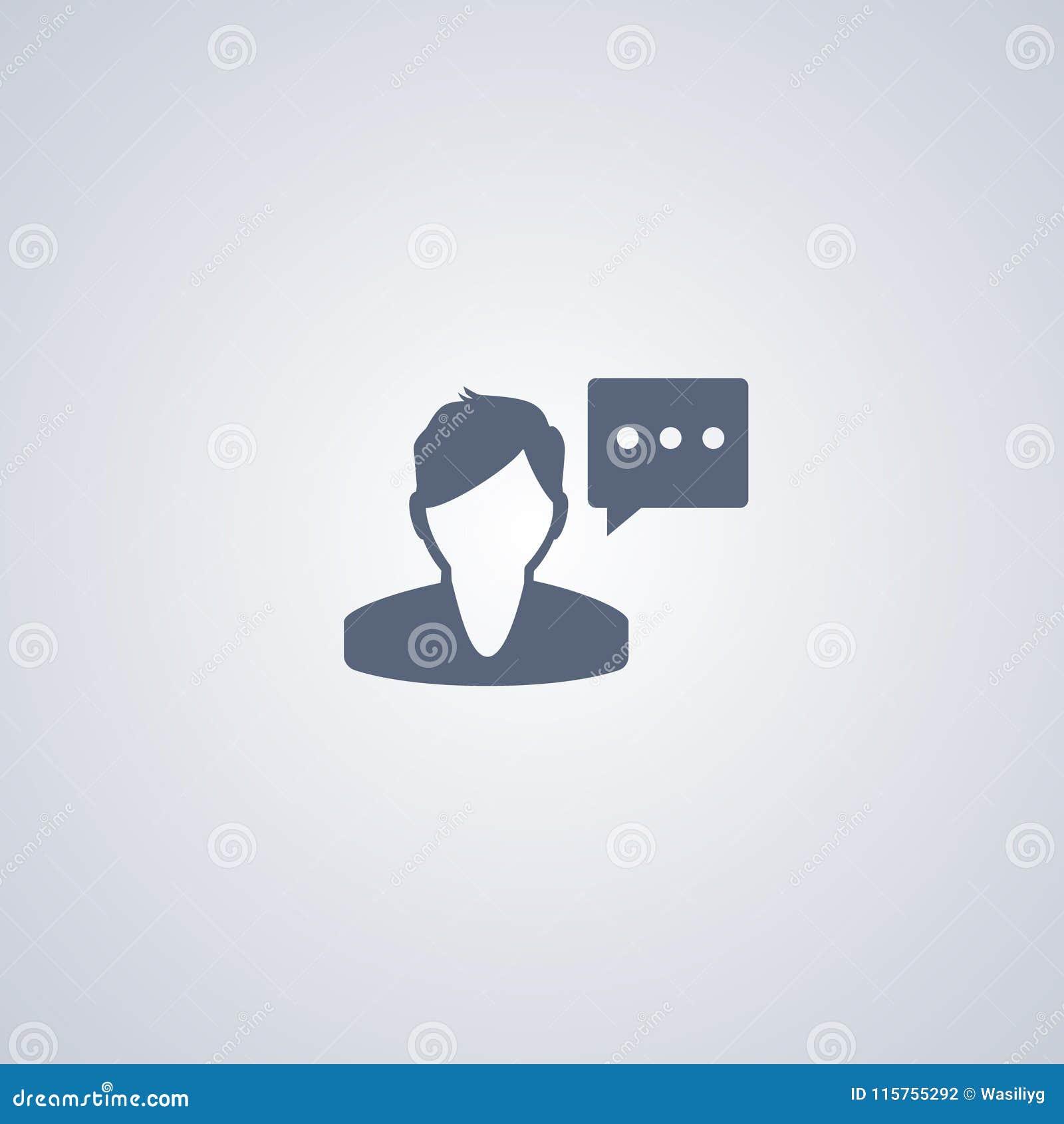 De spreker, Mens spreekt, vector beste vlak pictogram