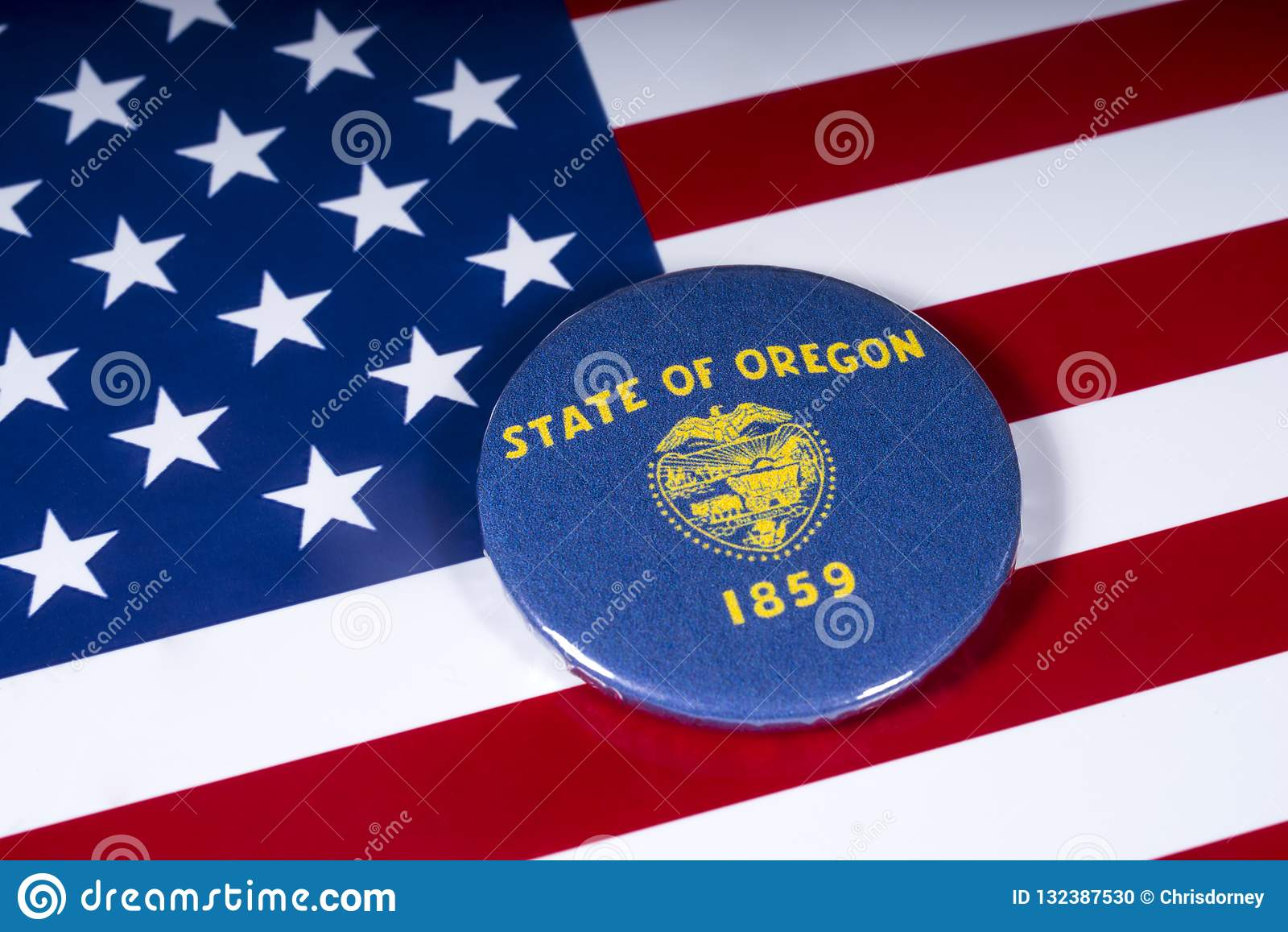 De Staat van Oregon in de V.S.