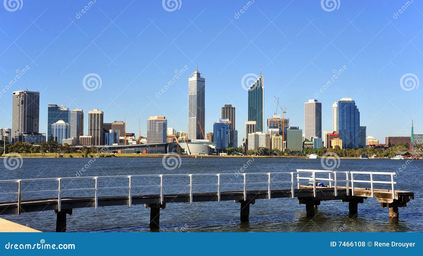 De Stad van Australië van het panorama van Perth