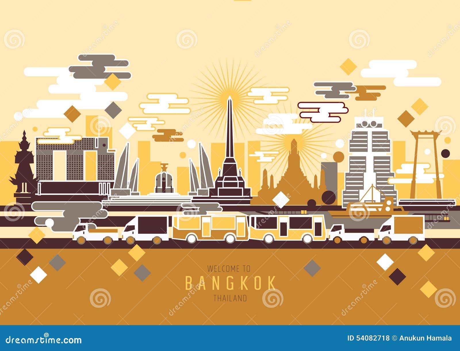 De stad van Bangkok Thailand