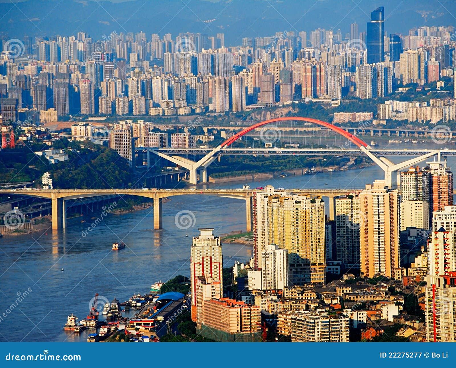 De stad van Chongqing