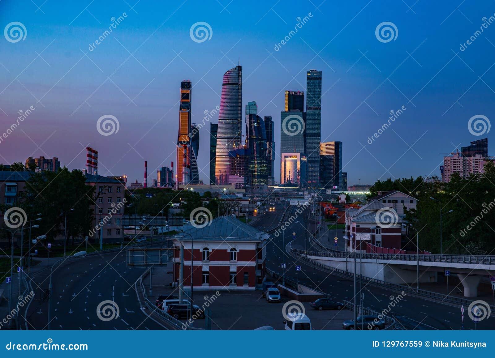 De Stad van commercieel Moskou van het centrum