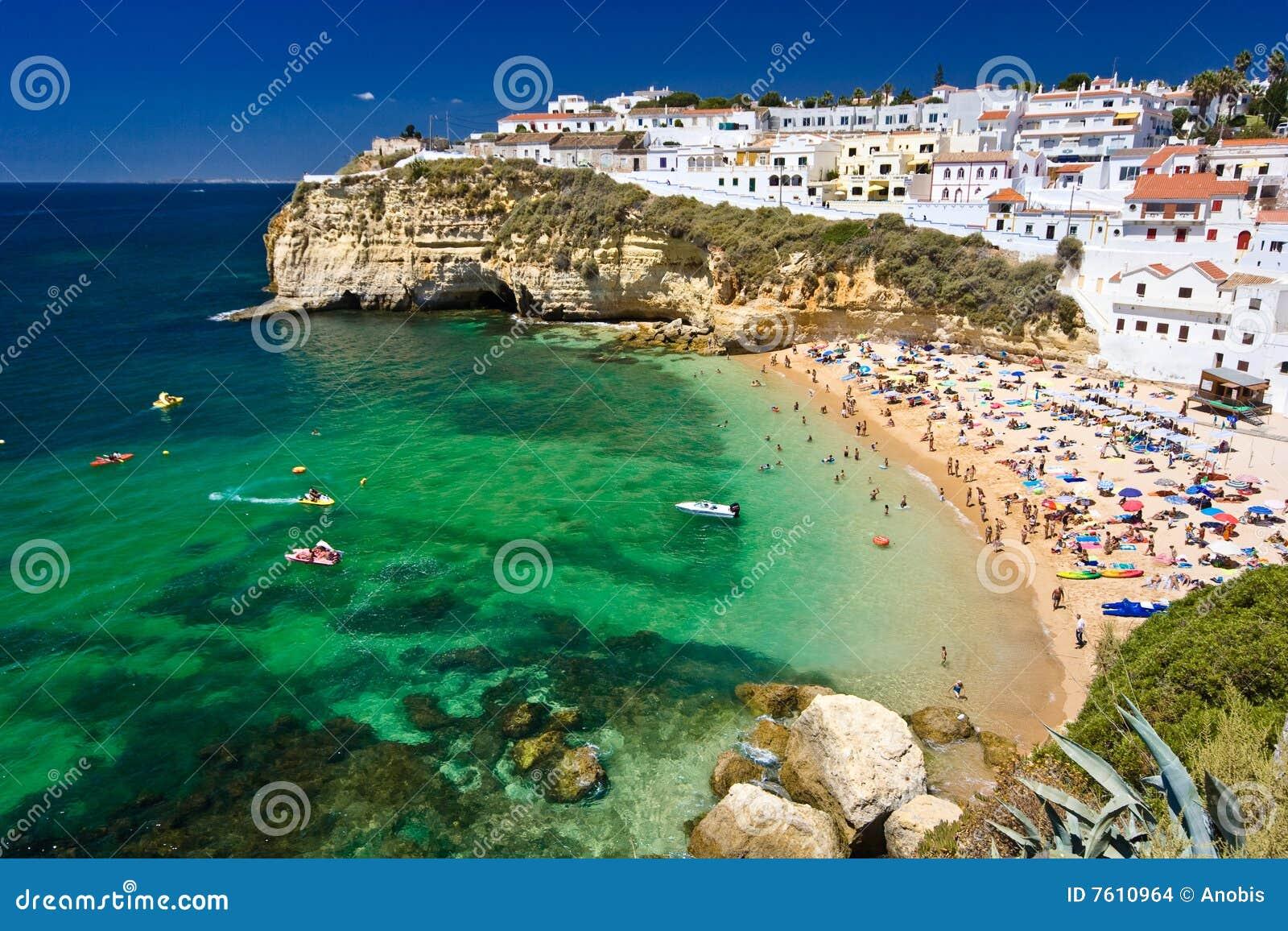 De stad van de kust in Portugal