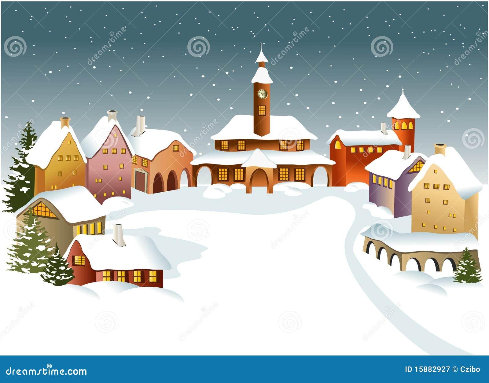 De stad van de winter
