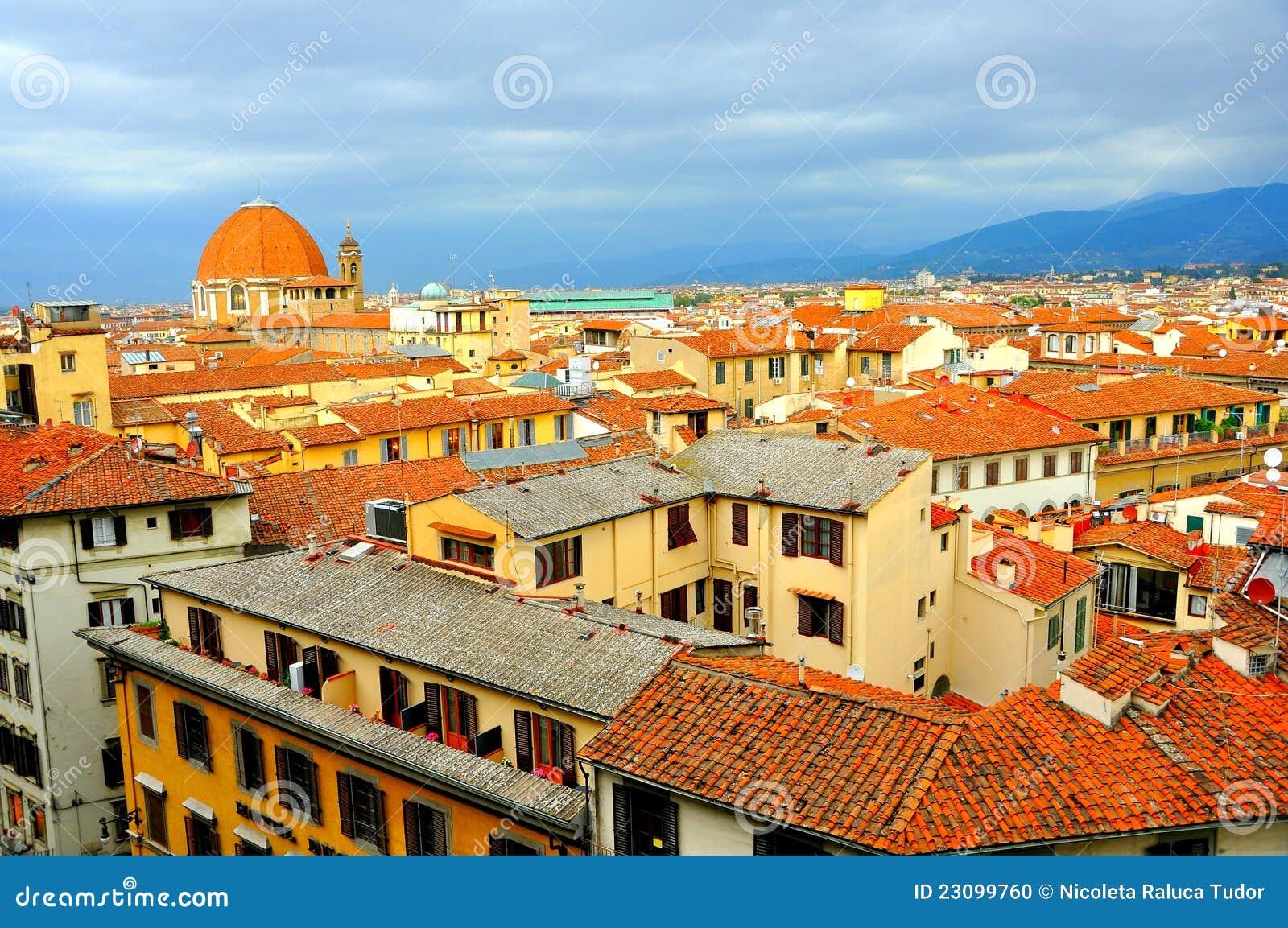 De stad van Florence van hierboven, Italië