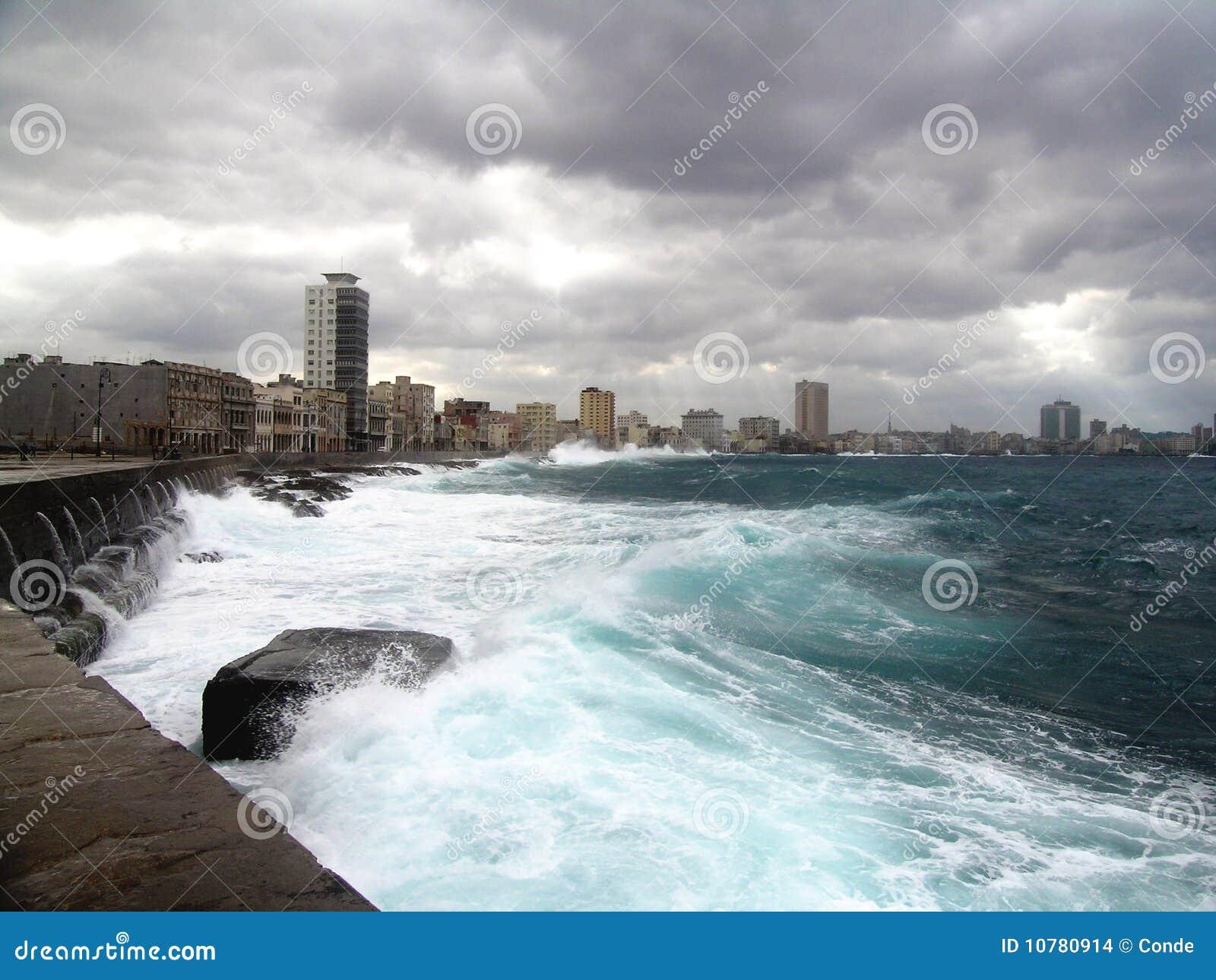 De stad van Havana (muur-overzees)