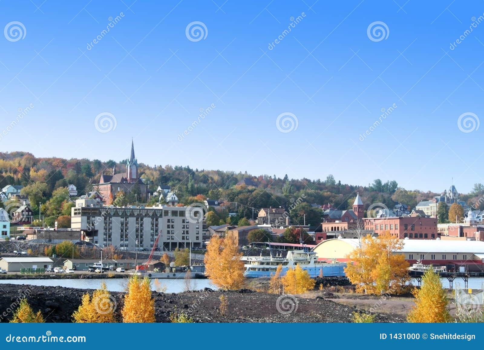 De stad van Houghton