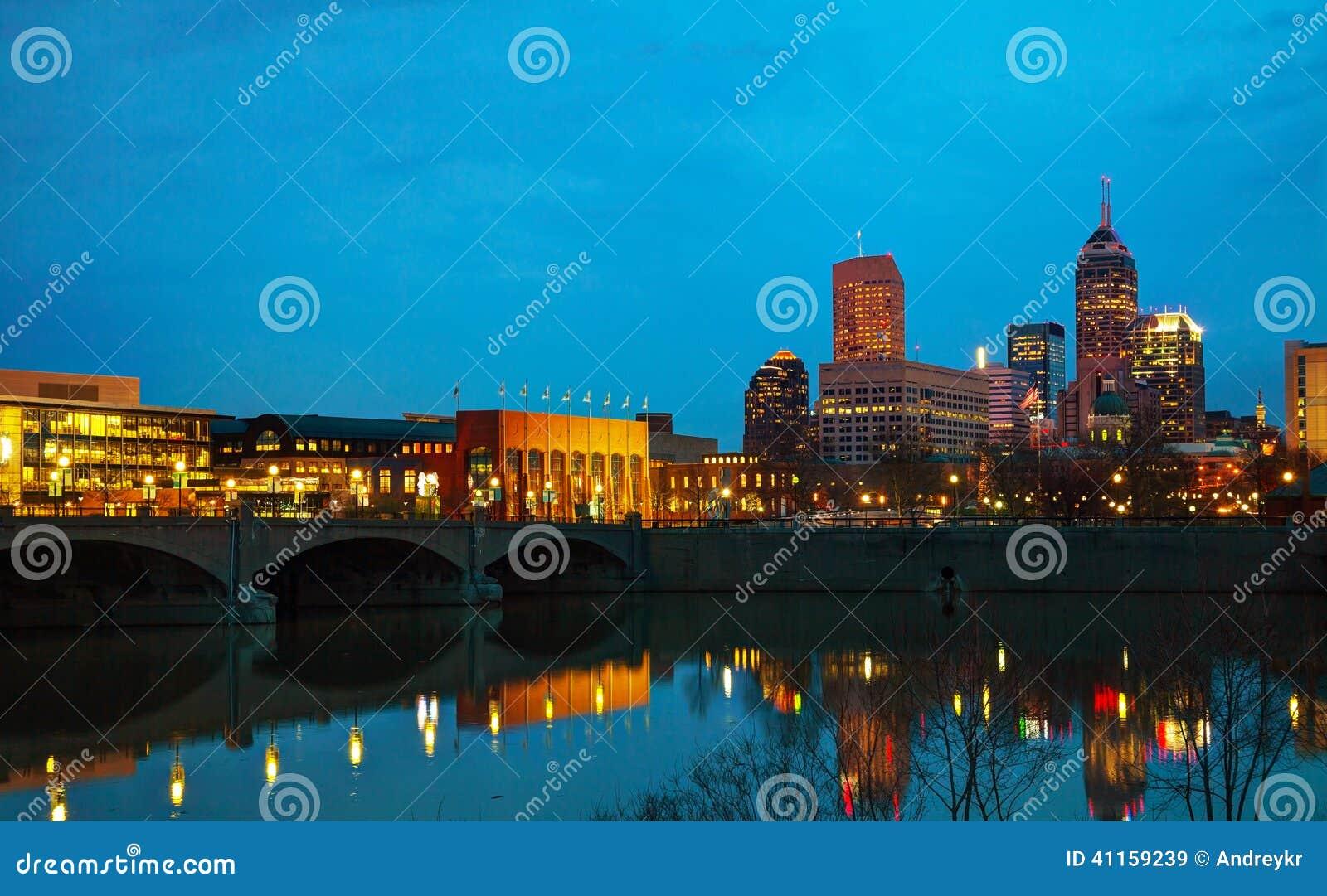 De stad in van Indianapolis