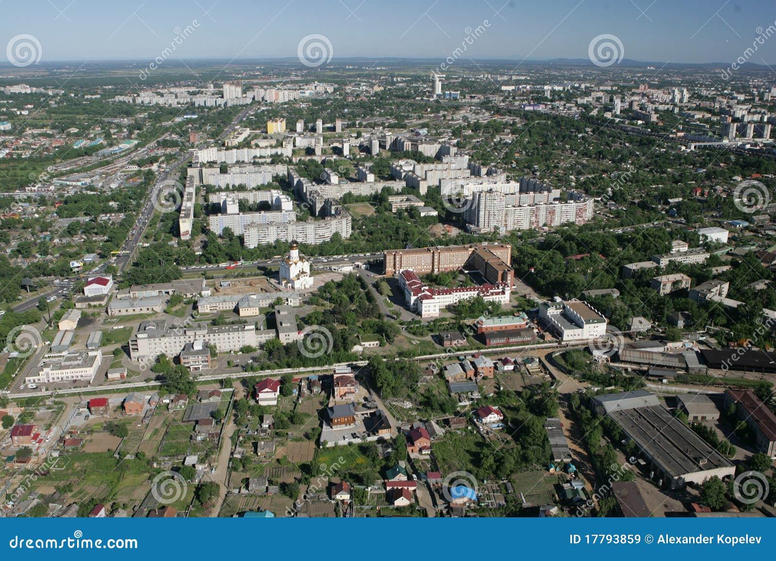 De stad van Khabarovsk een soort van helicopte.