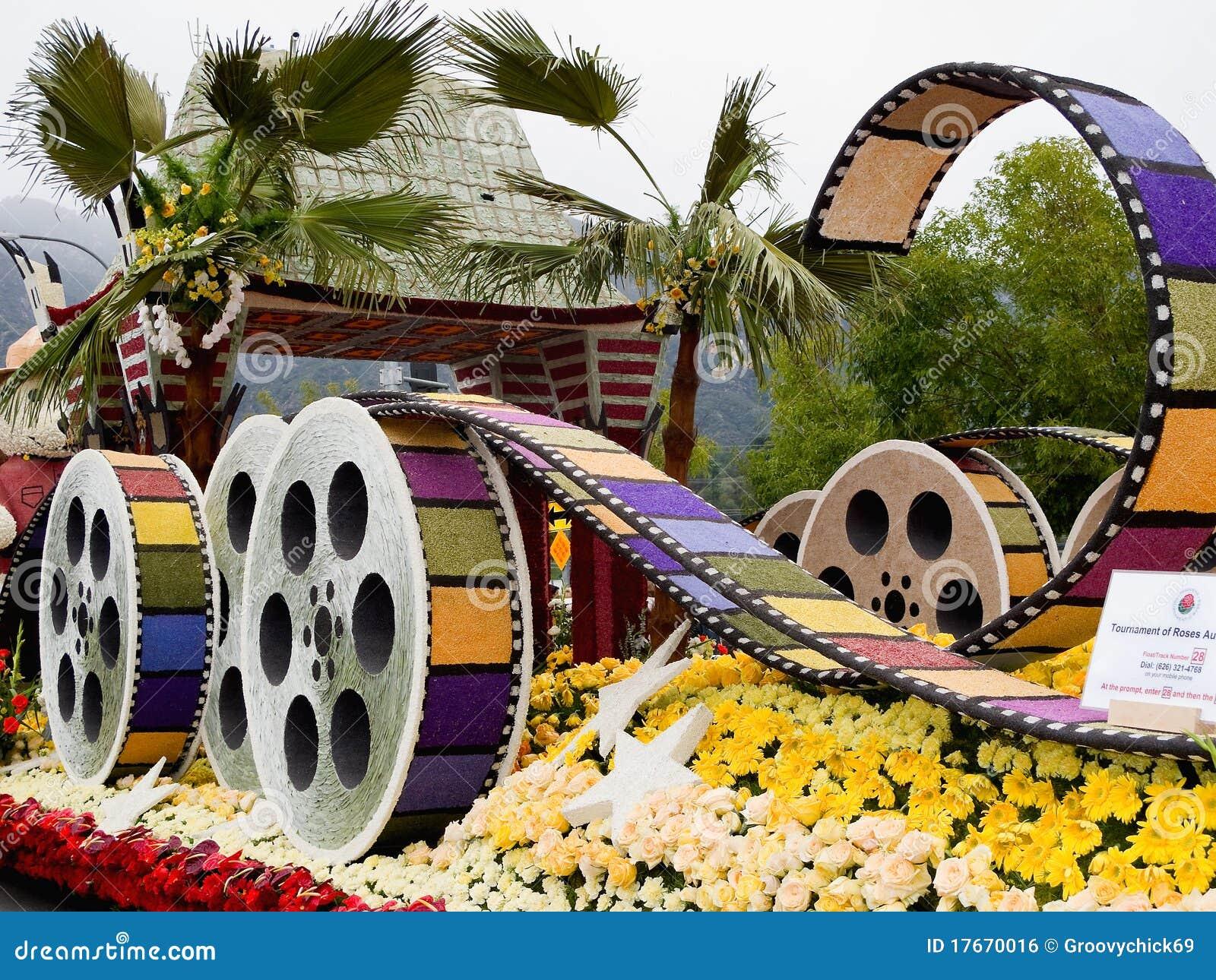 De stad van Los Angeles 2011 nam de Vlotter van de Parade van de Kom toe