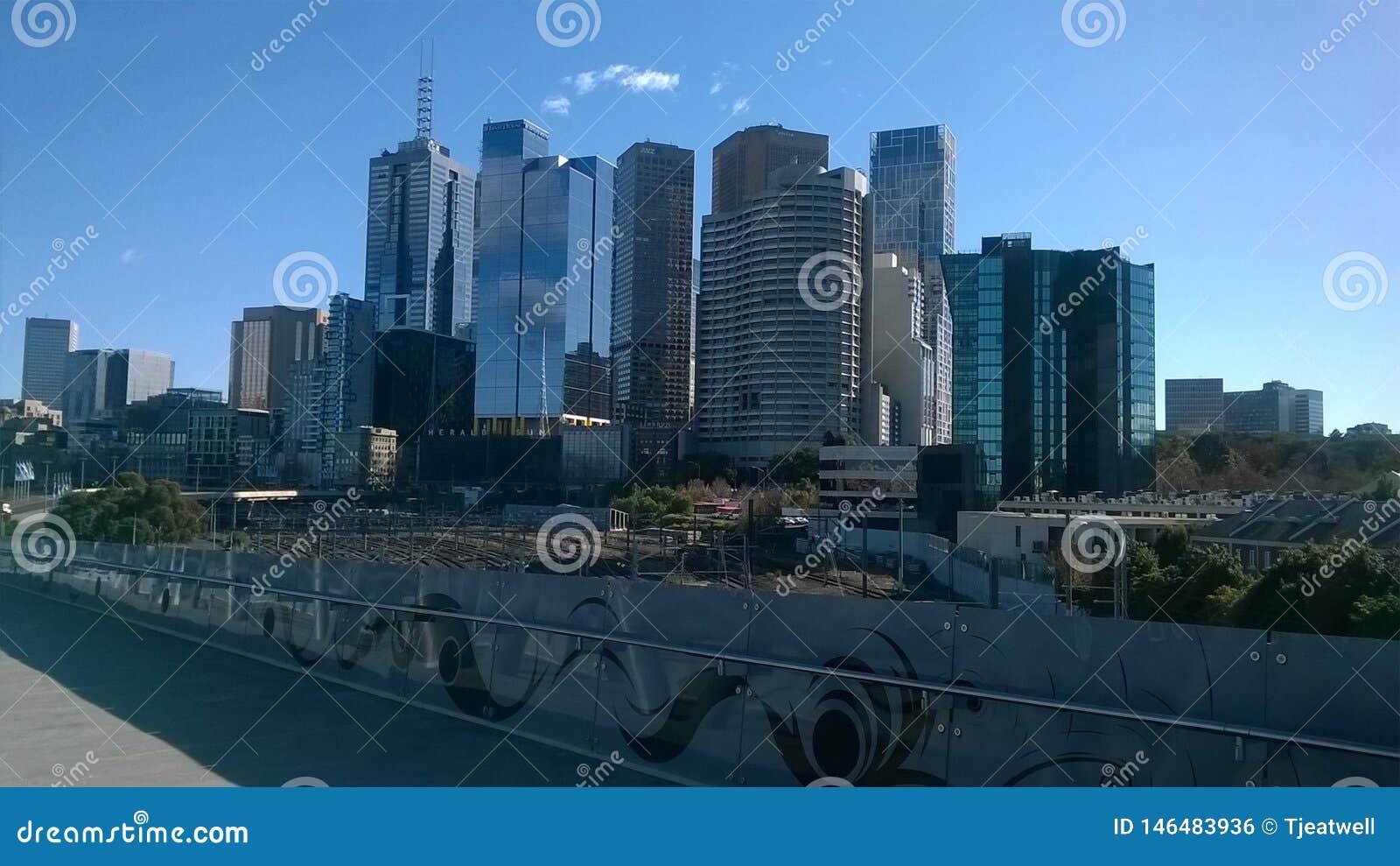 De Stad van Melbourne Australië
