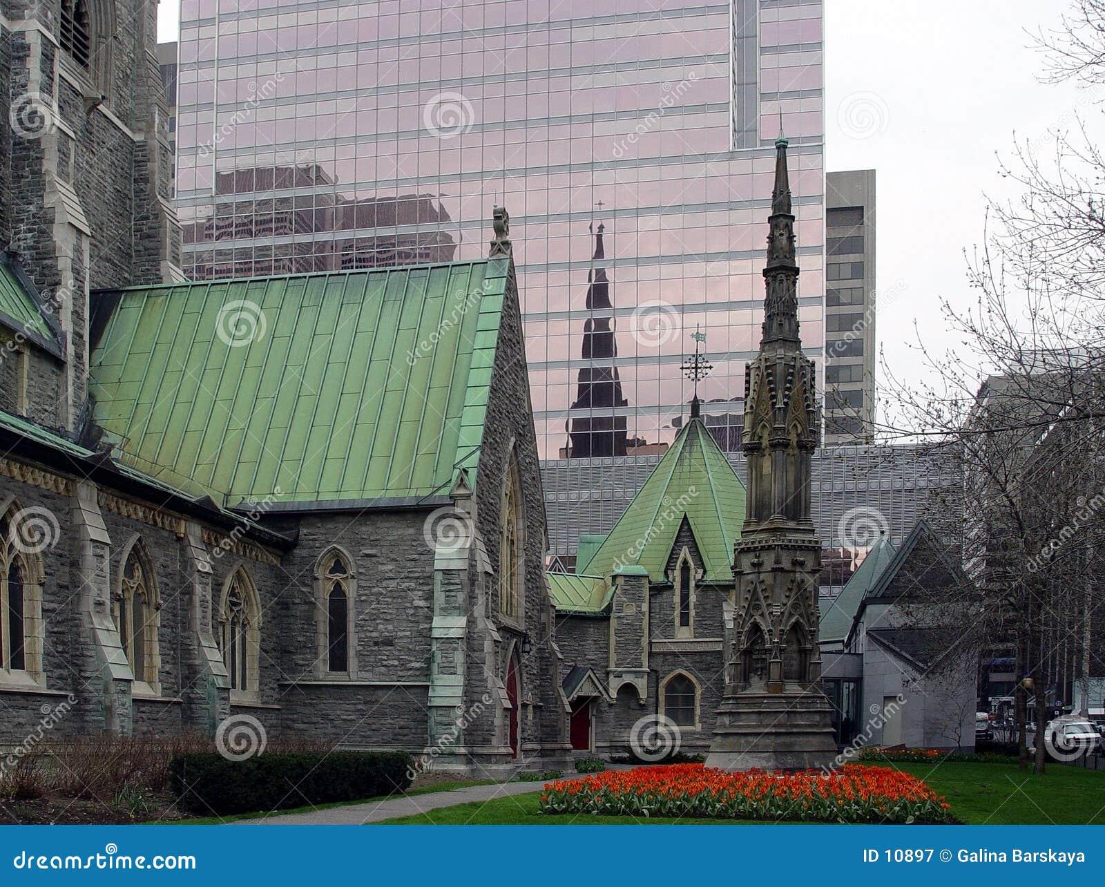 De stad in van Montreal