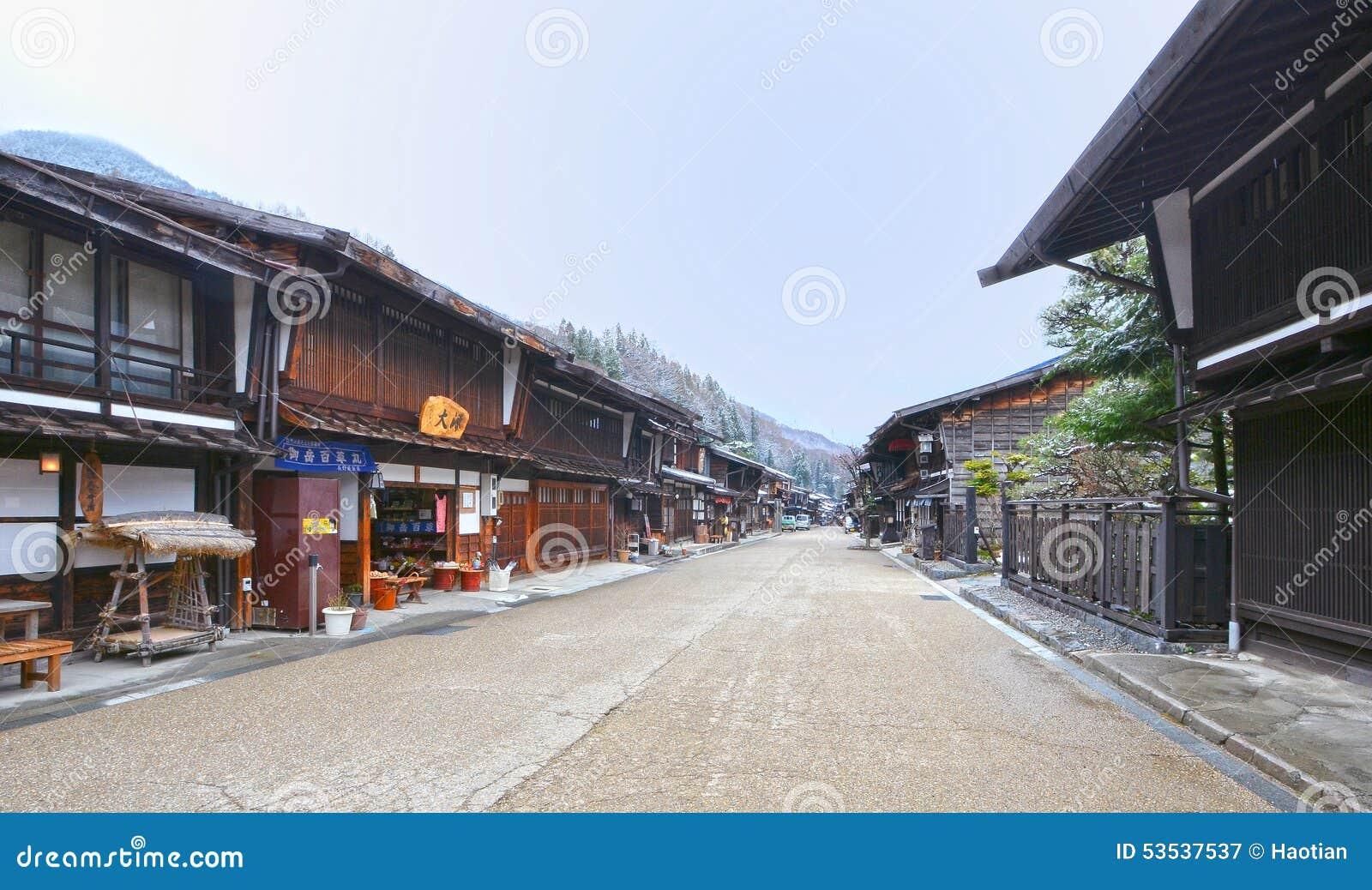 De Stad van Naraijuku in de Winter