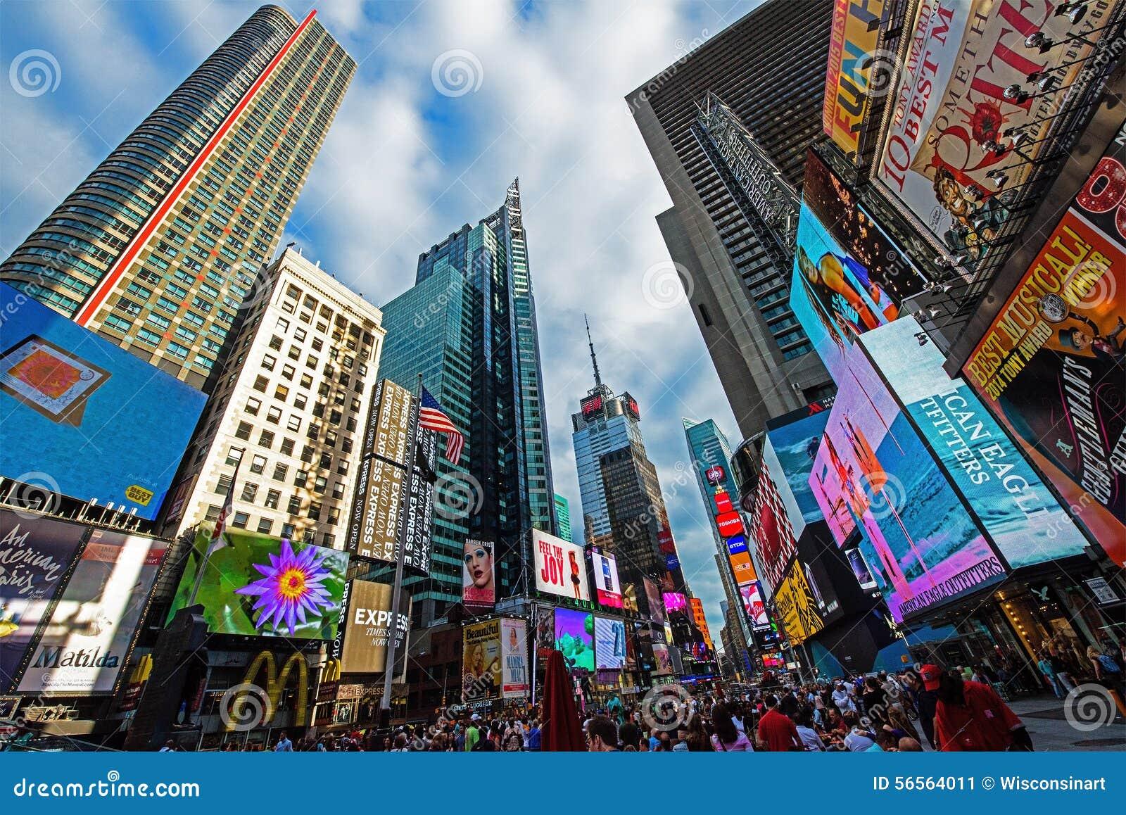 De Stad van New York van het Times Square