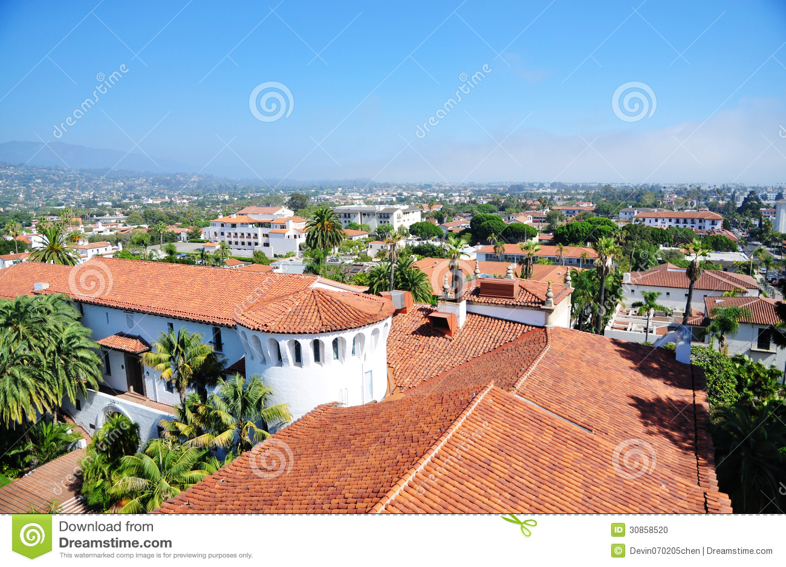 De stad in van Santa Barbara