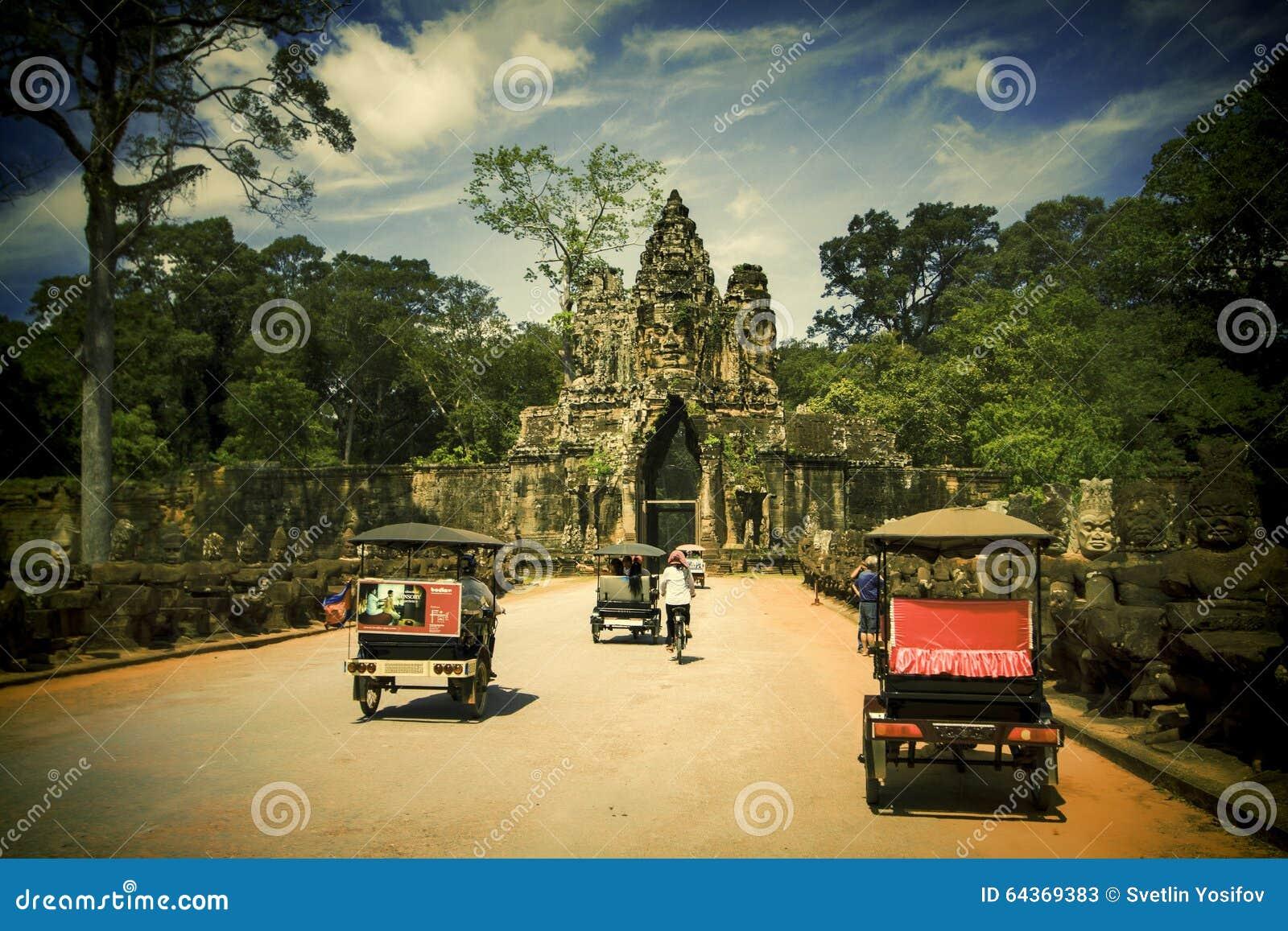 De stad in van Siem oogst, Kambodja