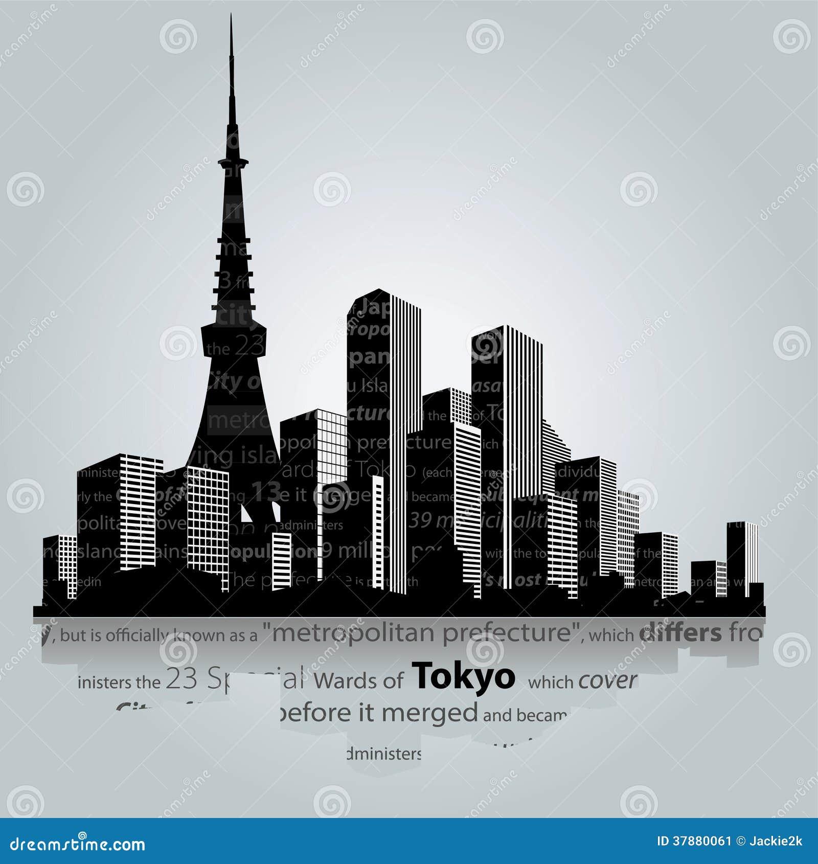 De stad van Tokyo