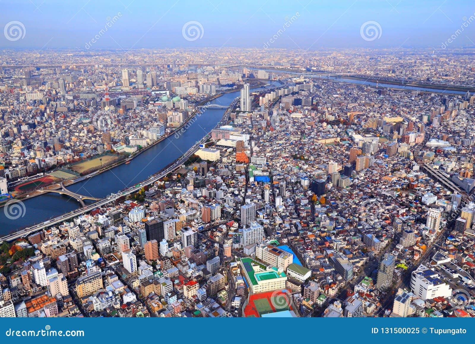 De stad van Tokyo, Japan