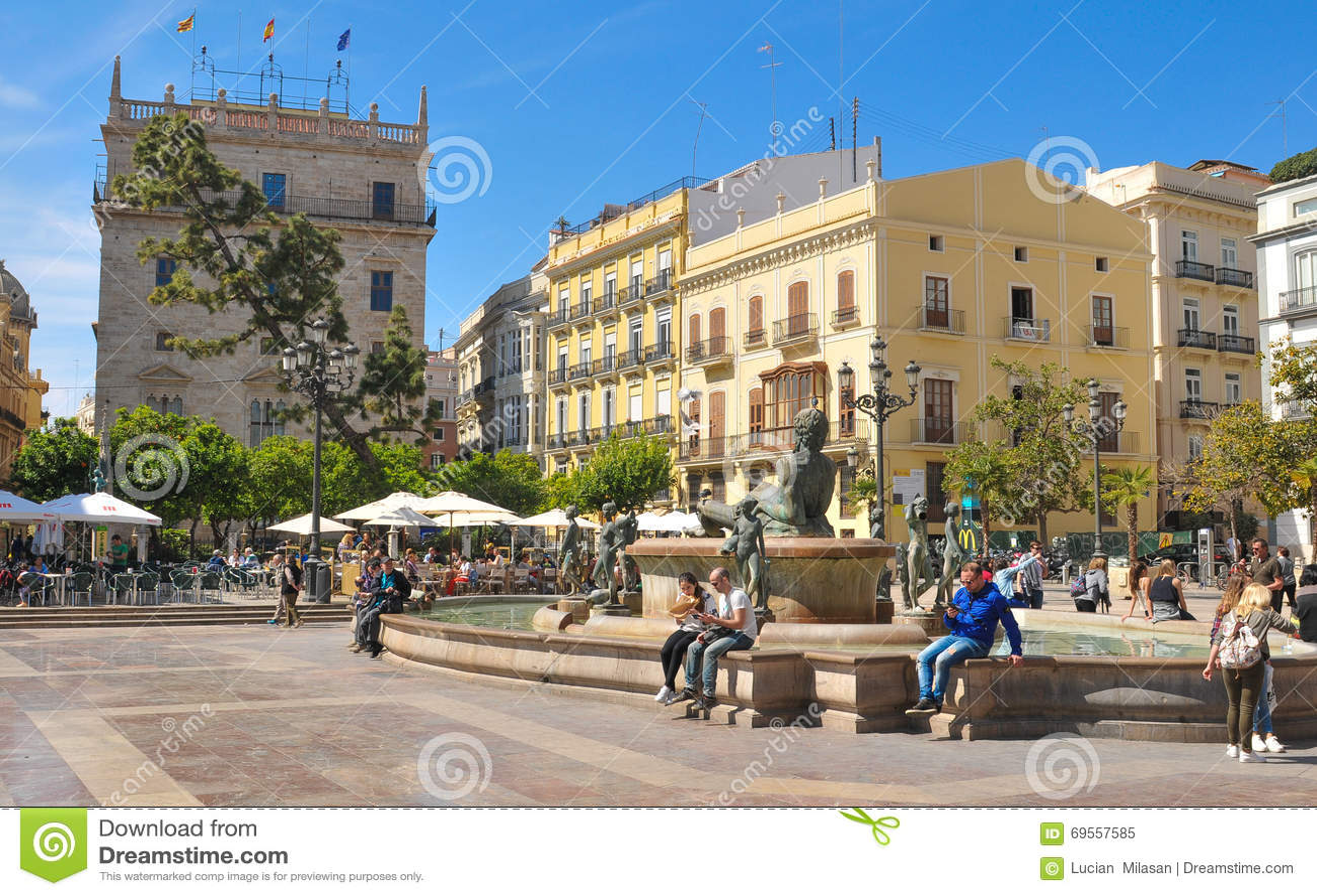 De stad van Valencia, Spanje