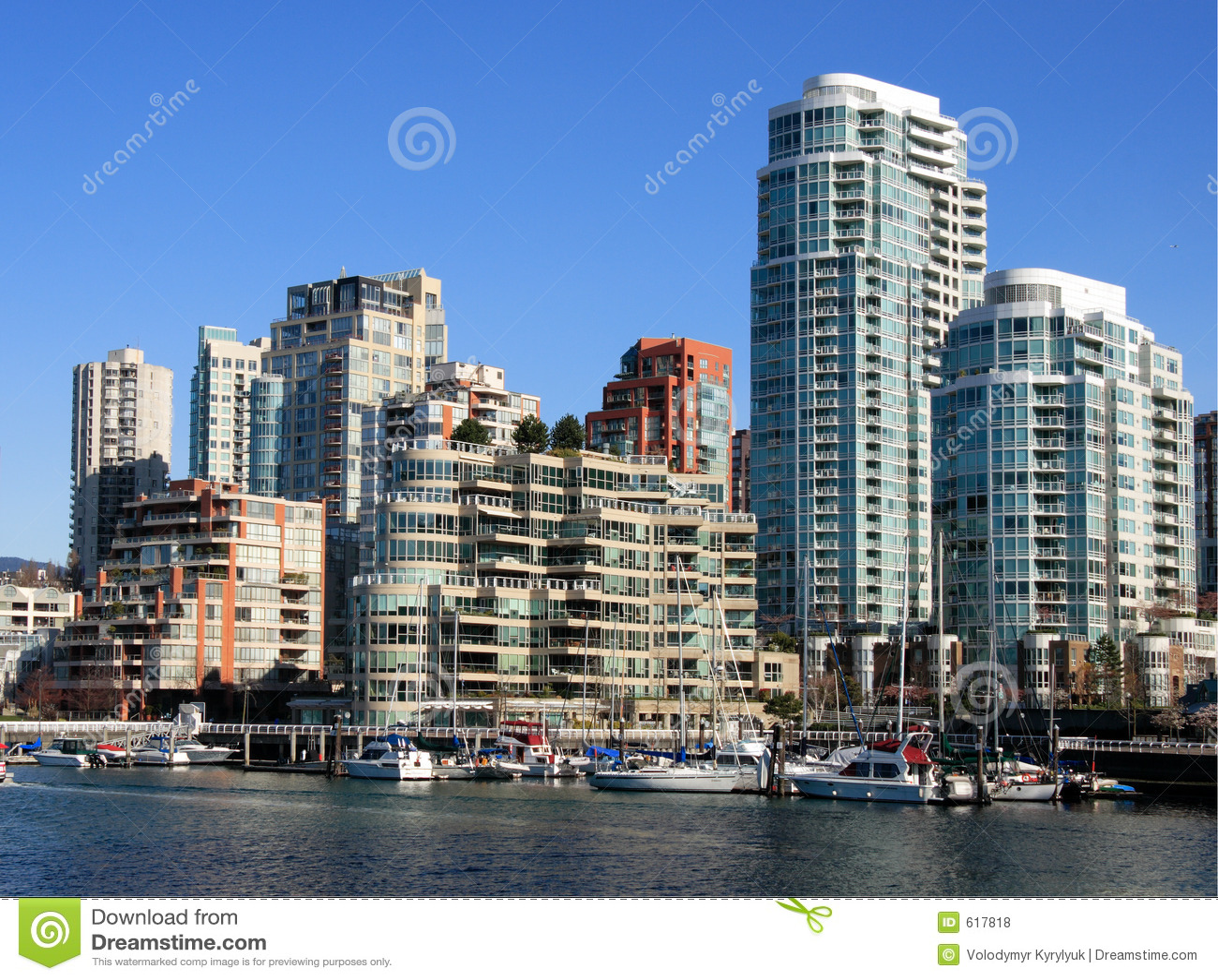 De stad in van Vancouver