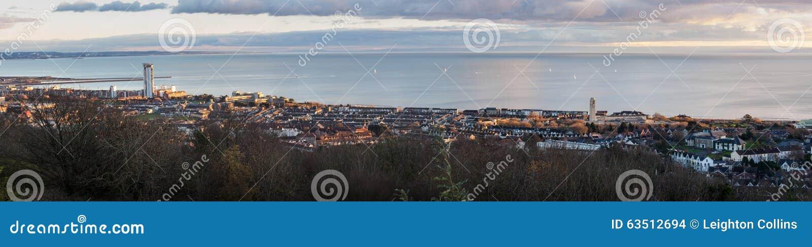 De stad Zuid-Wales van Swansea